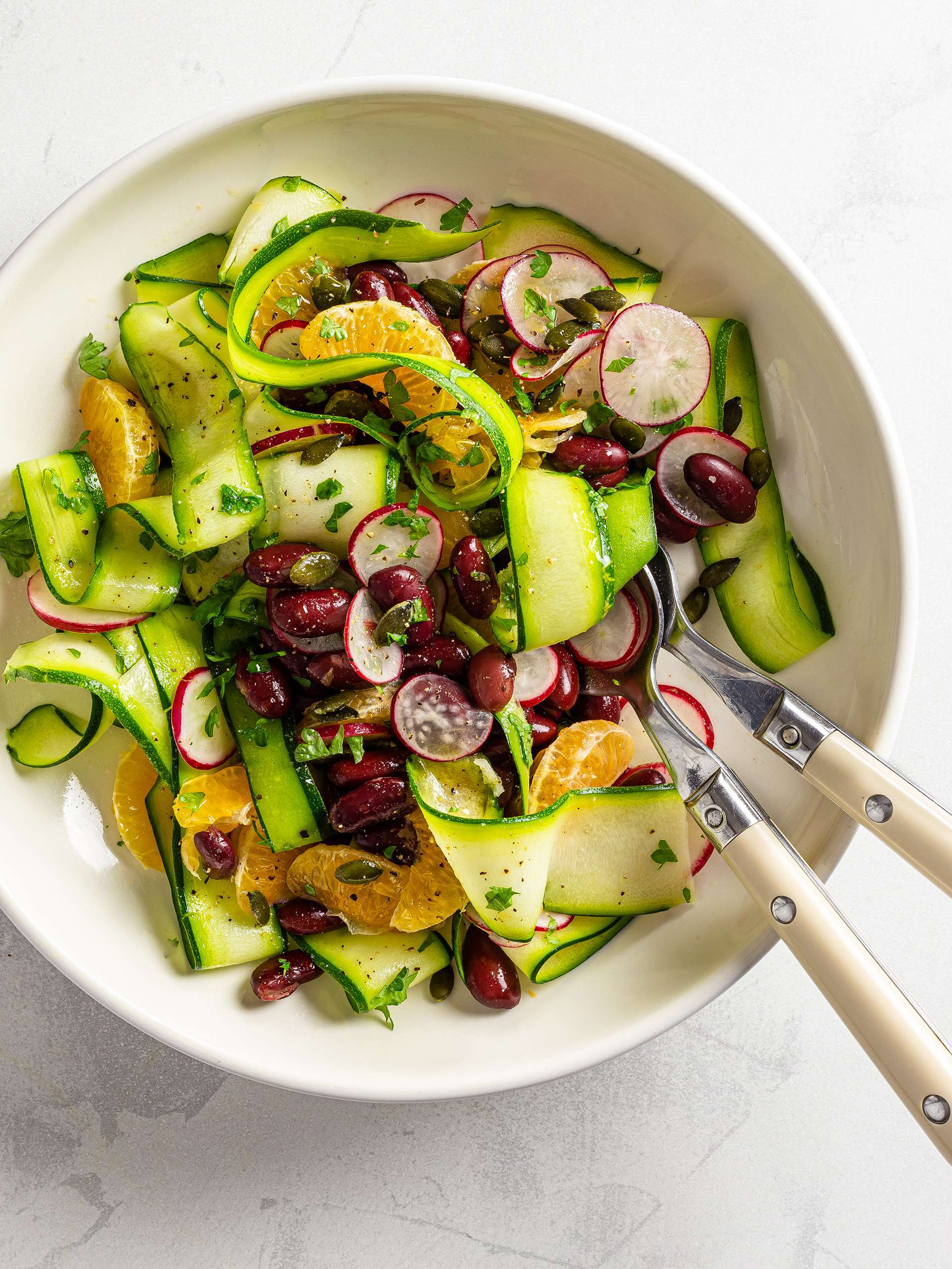 Tangerine and Zucchini Rainbow Salad Thumbnail