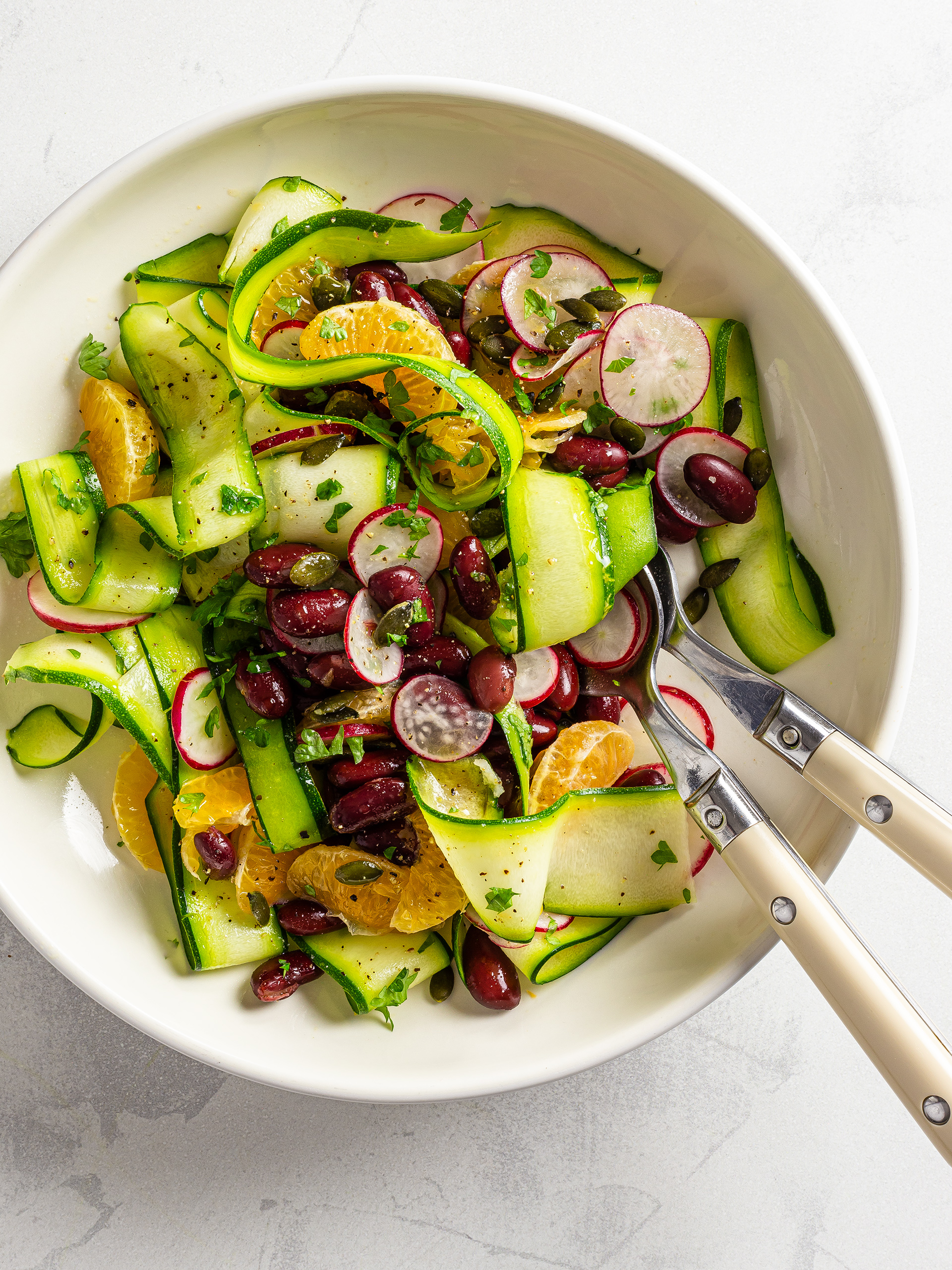 Tangerine and Zucchini Rainbow Salad Preview