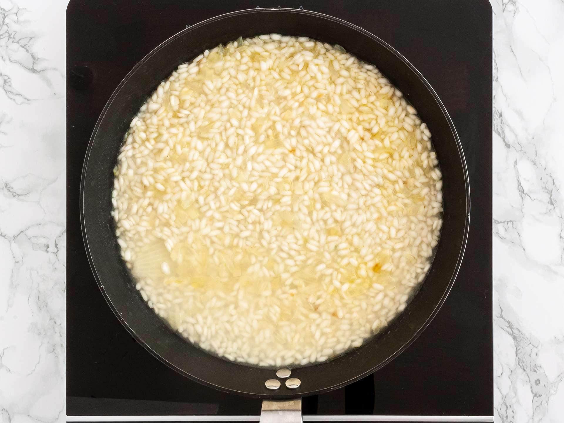 Step 1.2 of Creamy Courgette Risotto Recipe