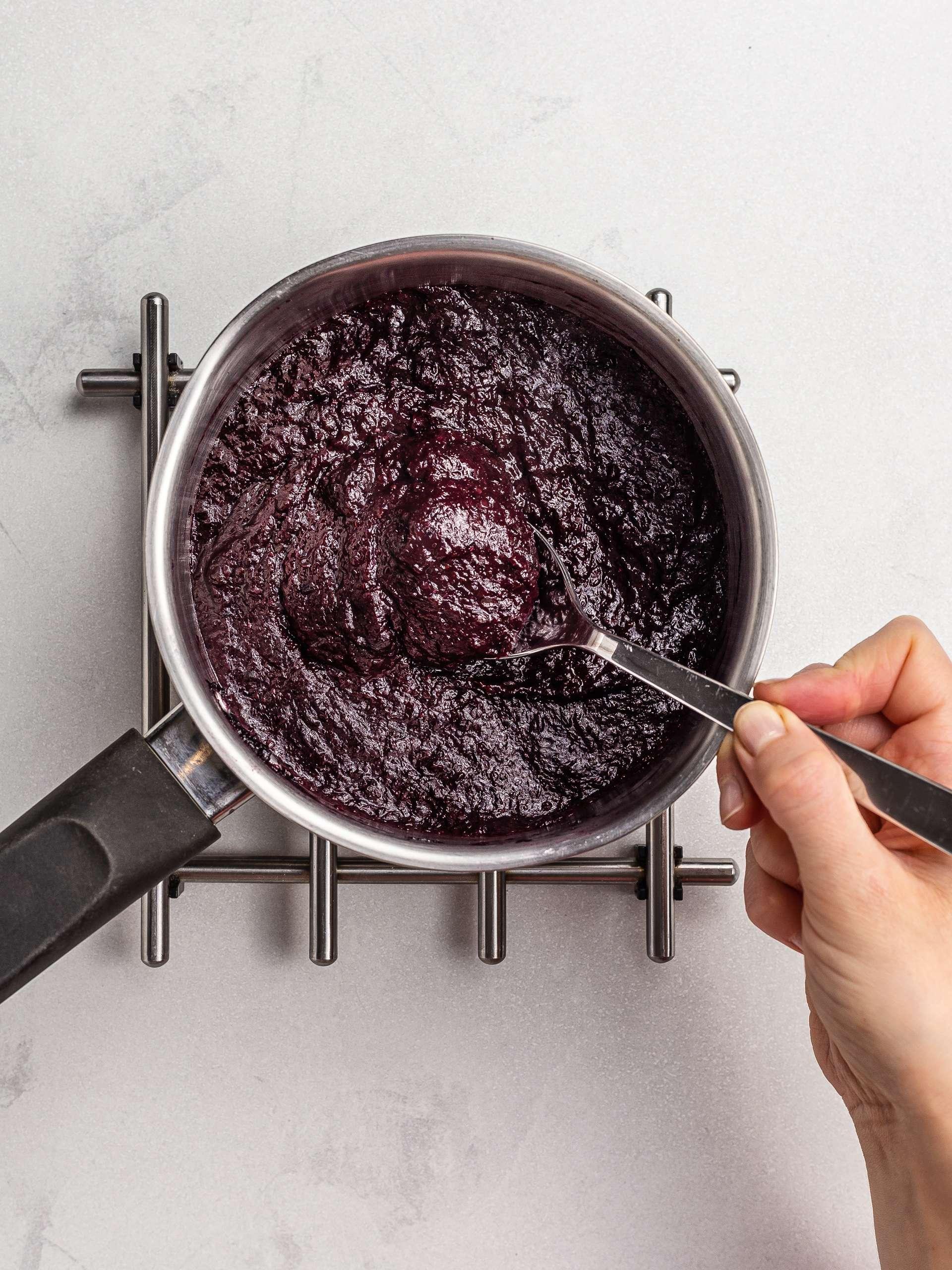 sugar- free cherry jam with flaxseeds