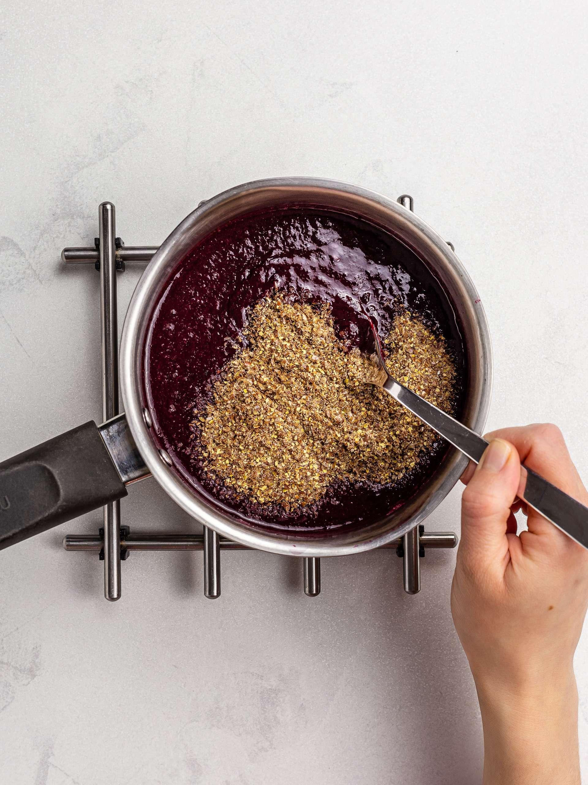 cherry jam with flaxseeds
