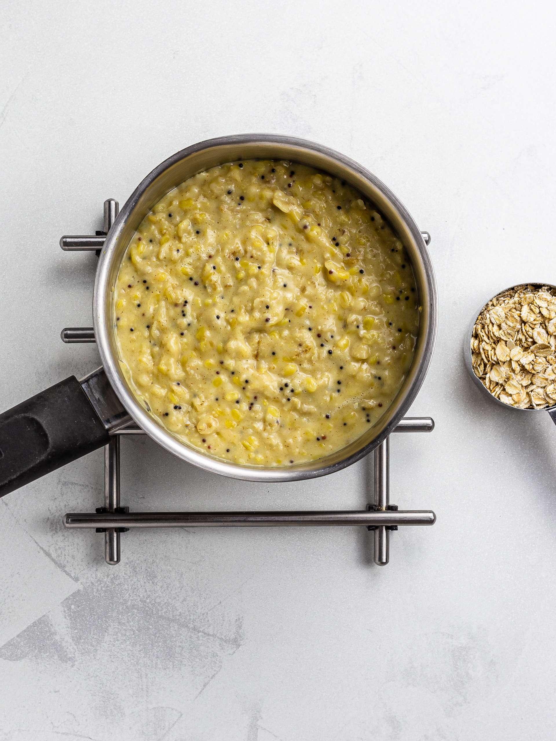 savoury curried oatmeal