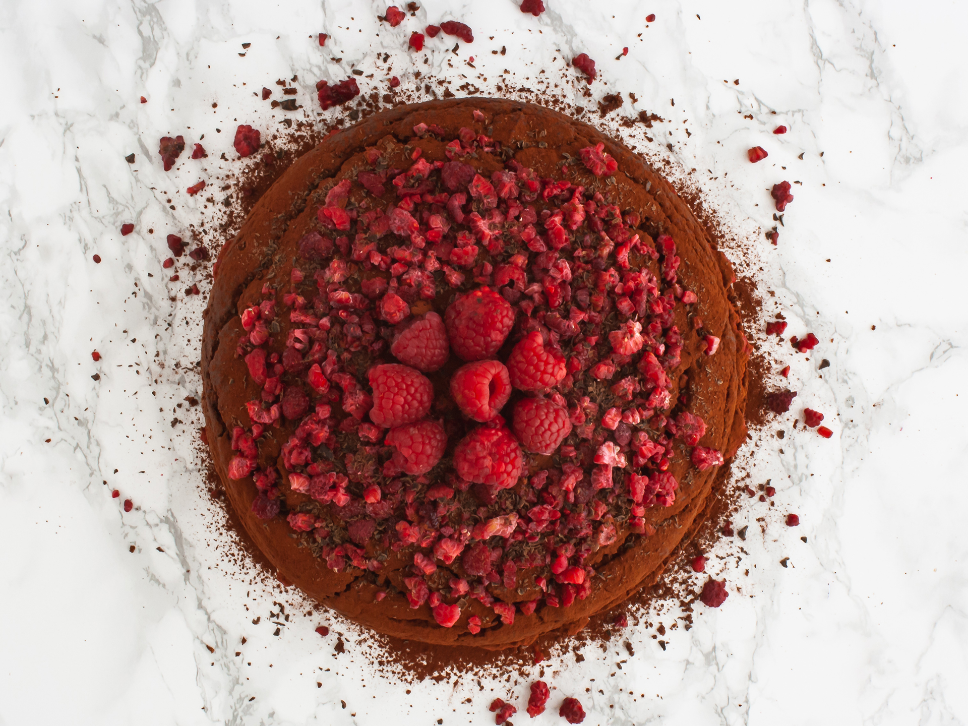 Step 5.2 of Vegan Chocolate Raspberry Cake Recipe