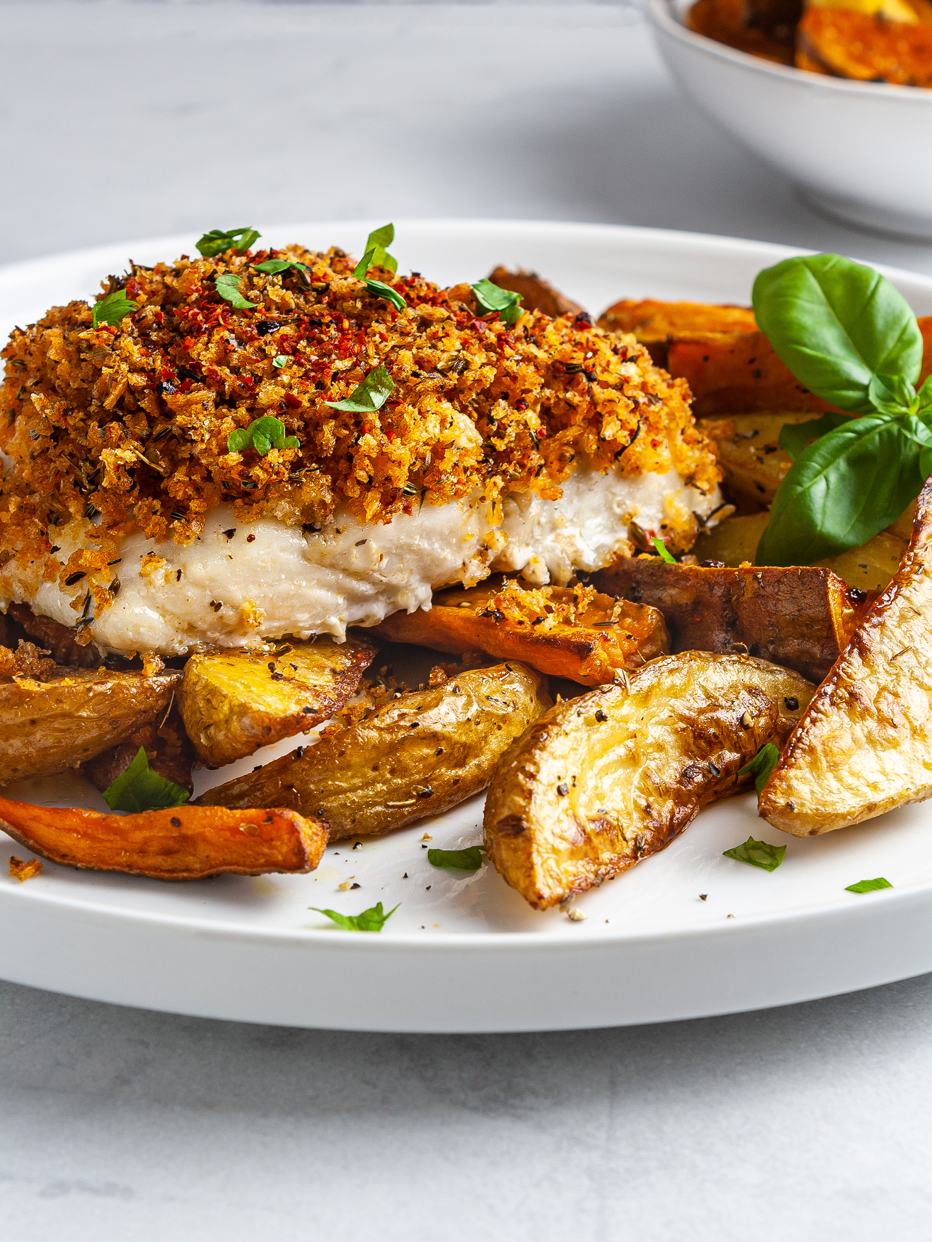 Oven-Baked Hake in Spicy Breadcrumbs Thumbnail