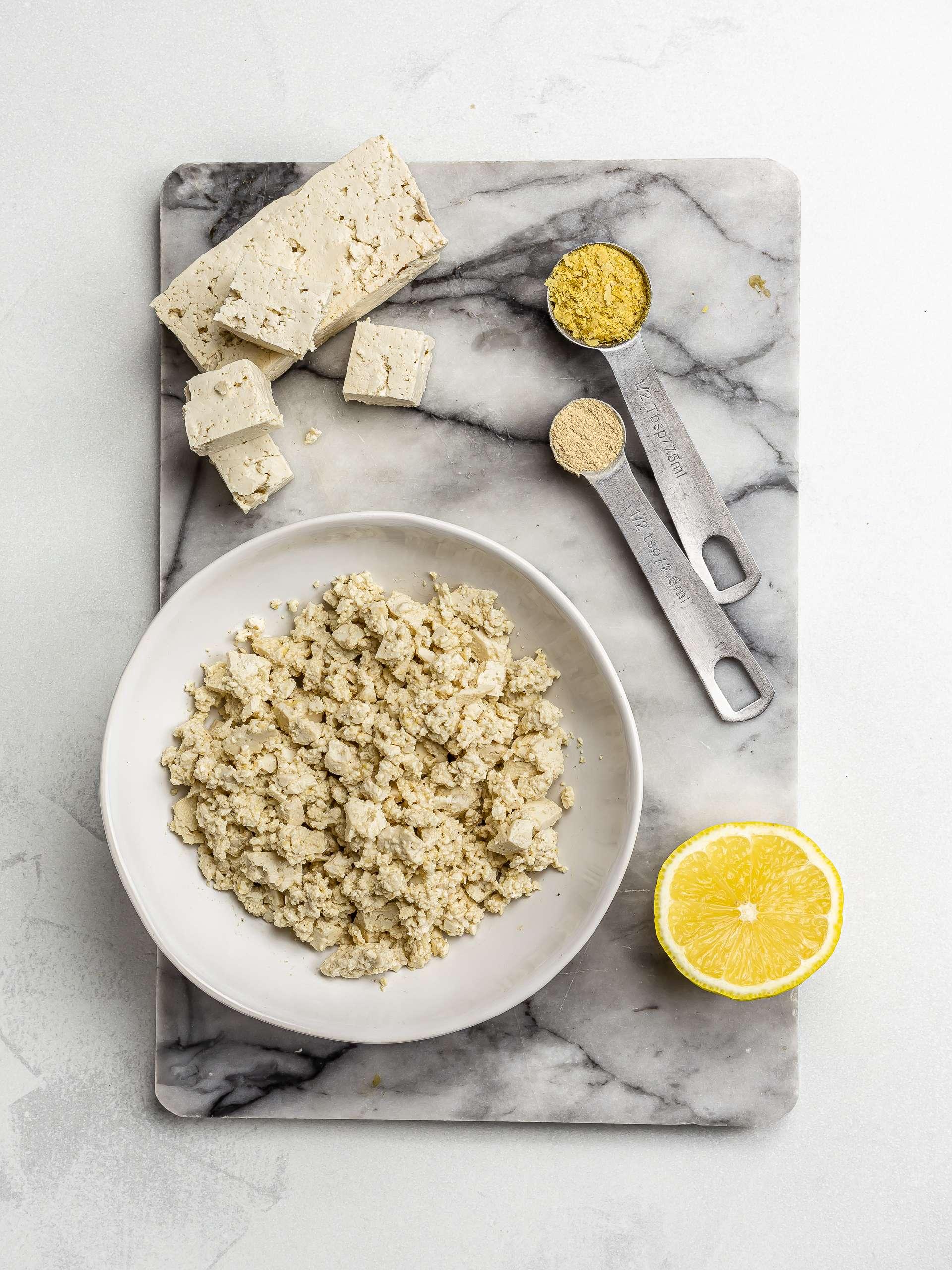 seasoned crumbled tofu