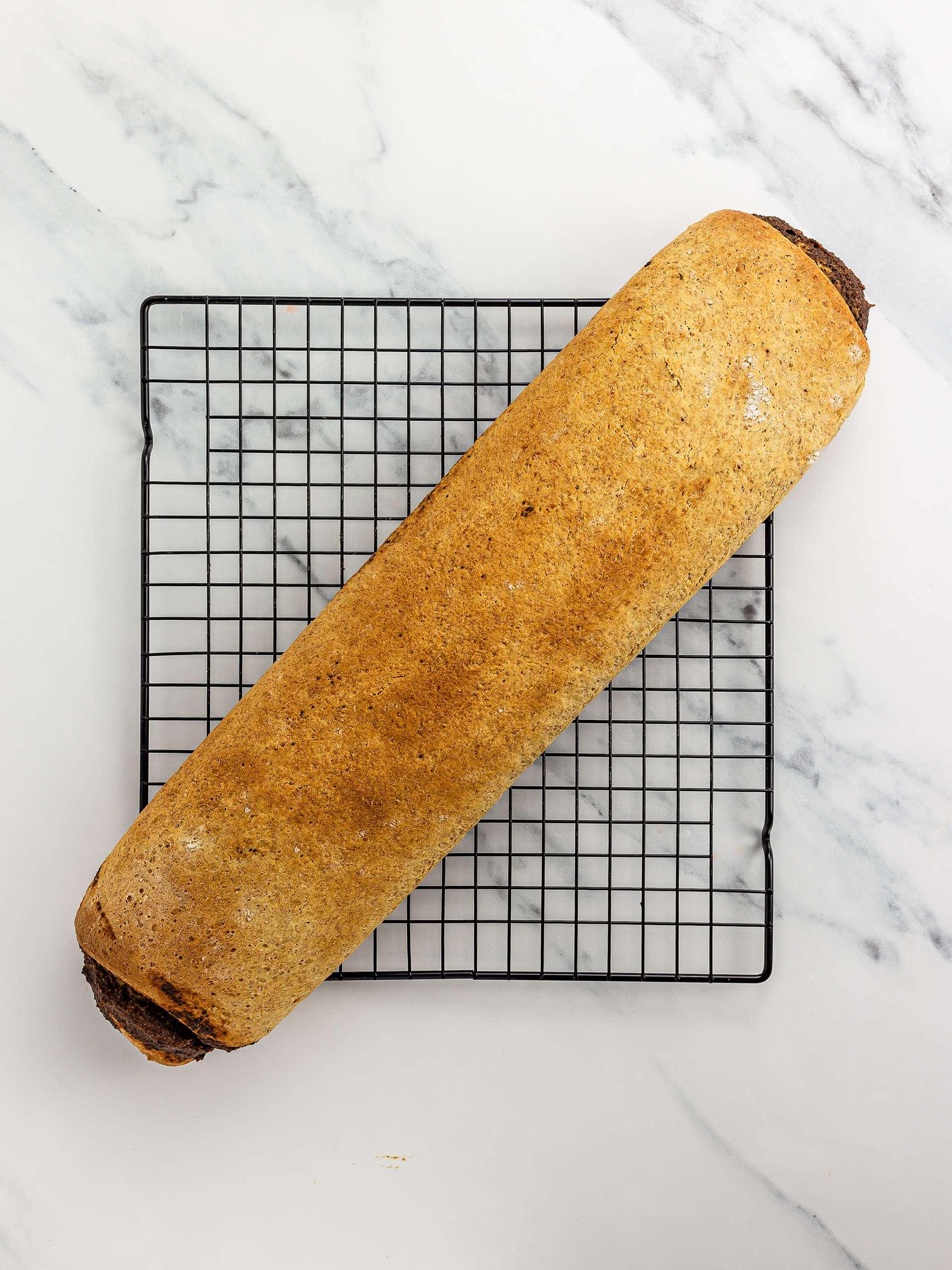 baked german poppy seed cake roll