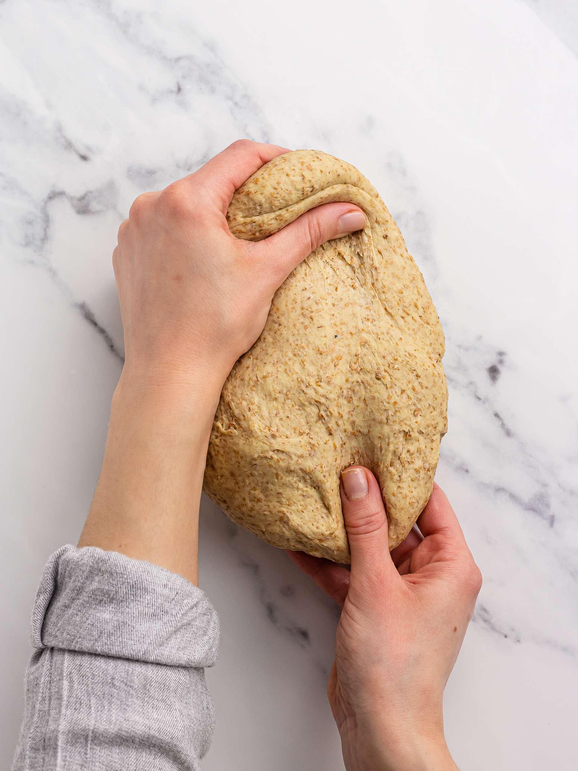 how to knead yeast cake dough
