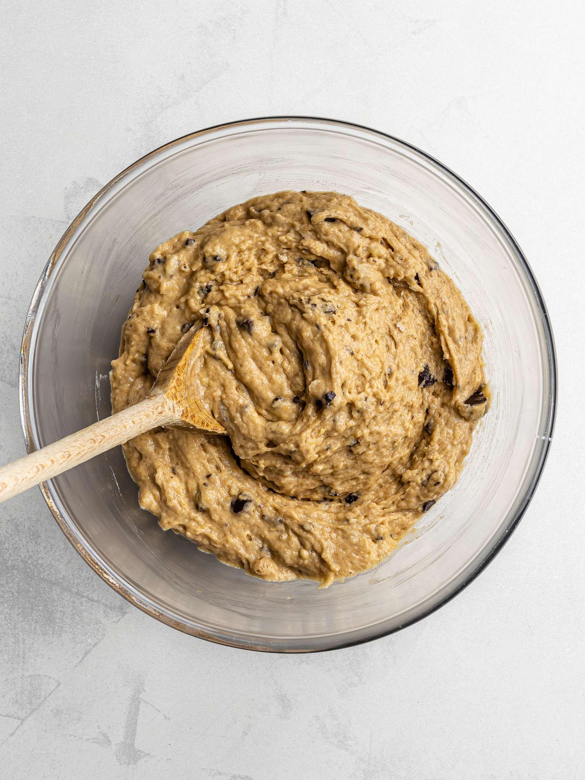 plantain muffins batter
