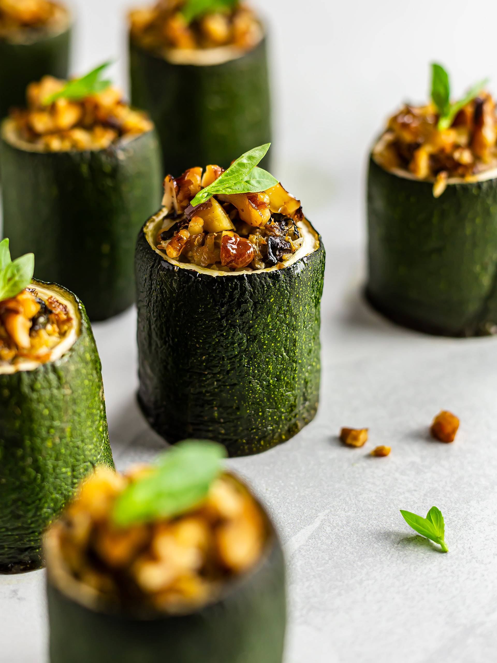 Vegan Low-Carb Stuffed Zucchini Cup