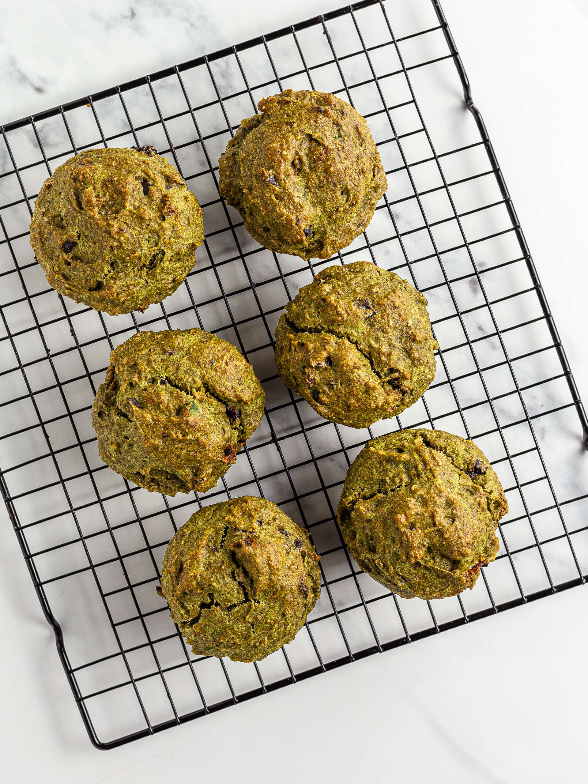baked savoury muffins on a tray