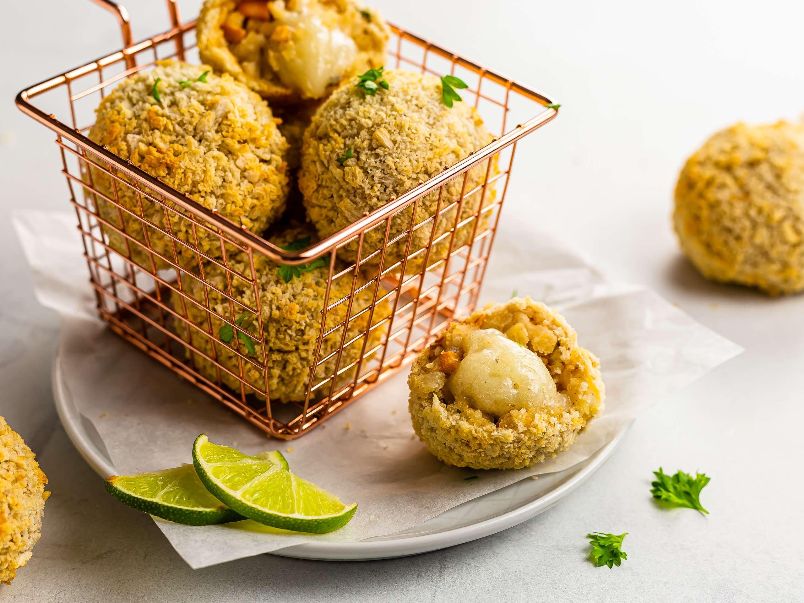 Vegan Mushroom Potato Croquettes