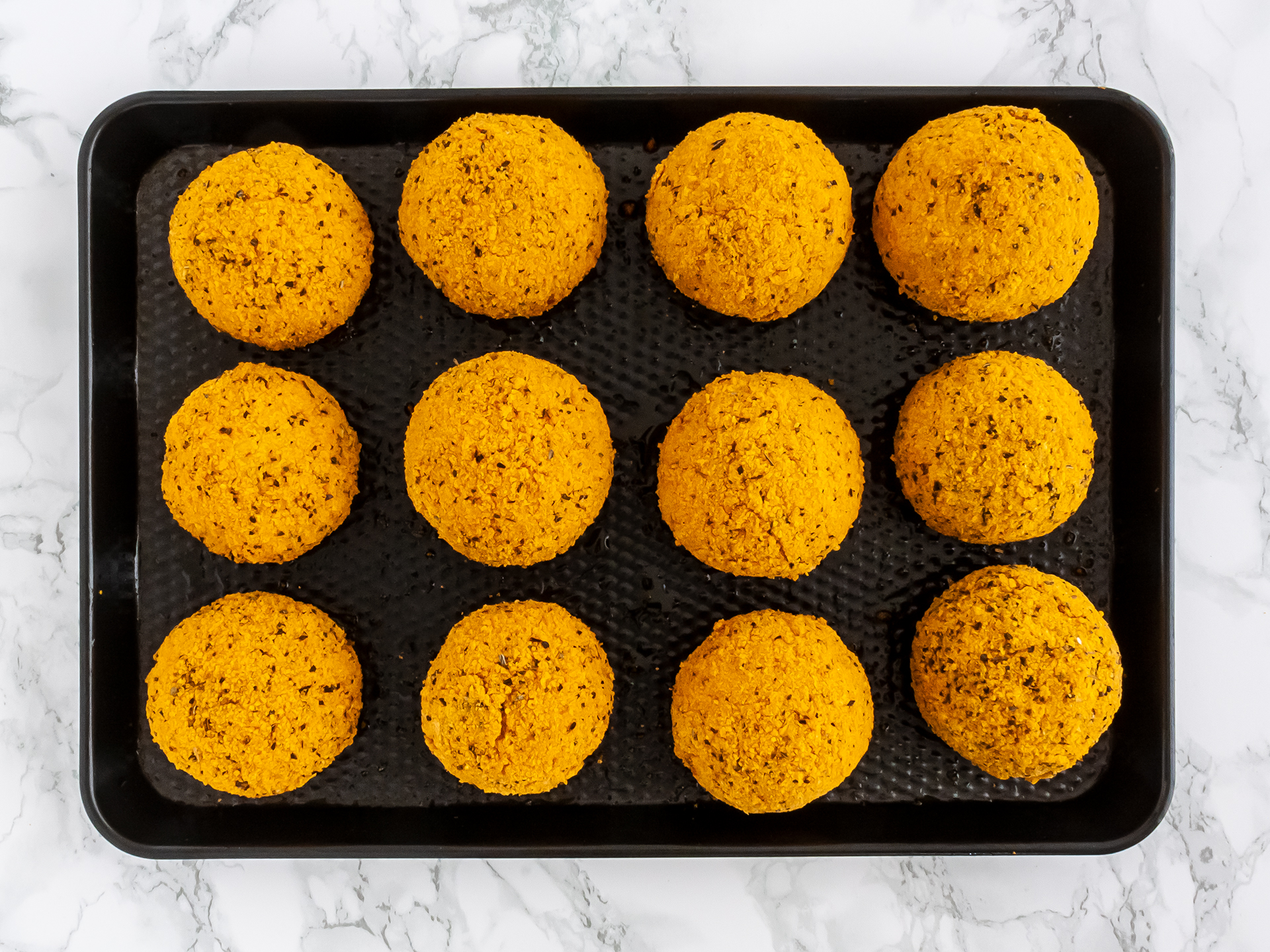 Arancini baked in the oven.