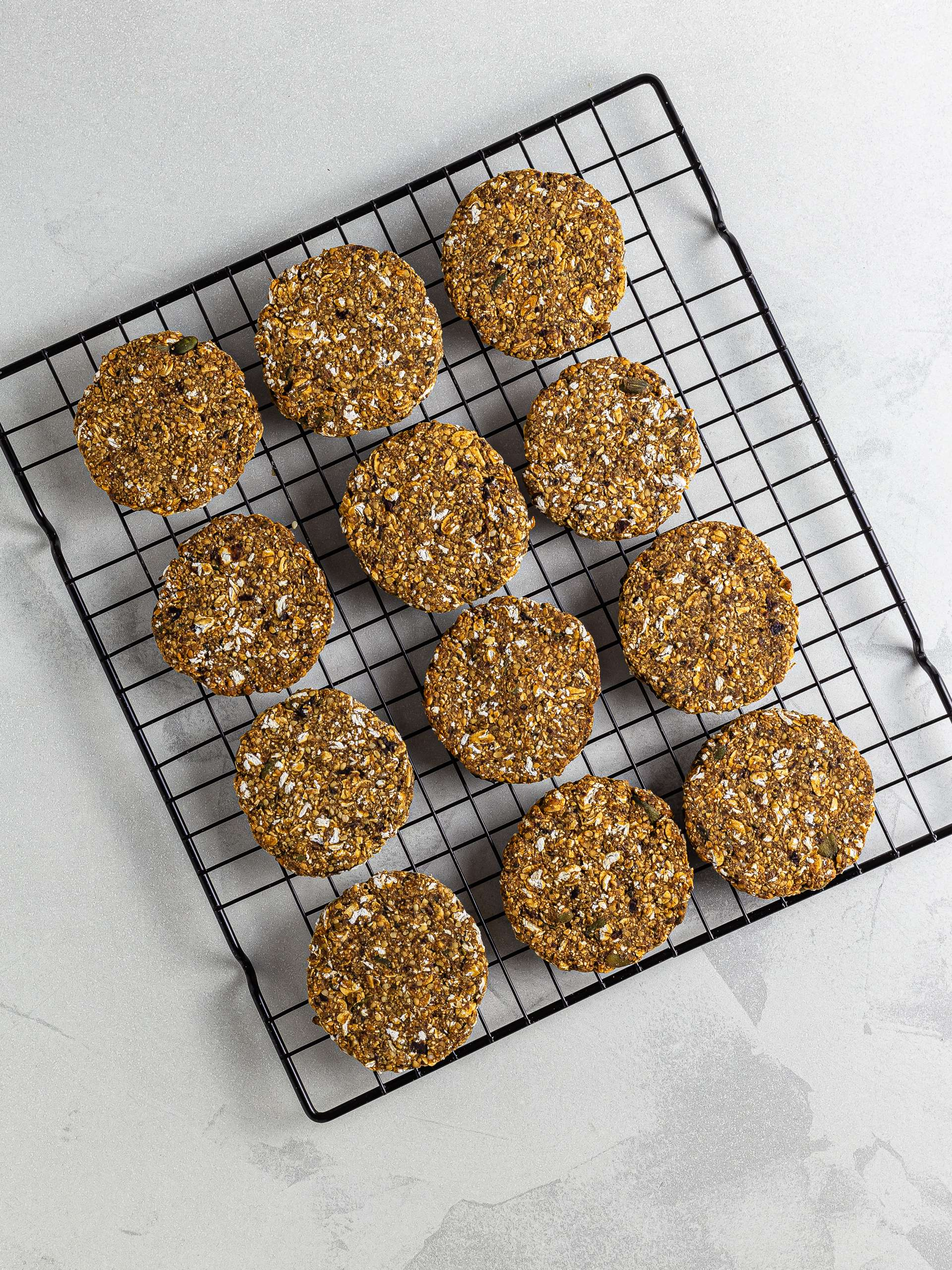 baked hemp cookies on a rack