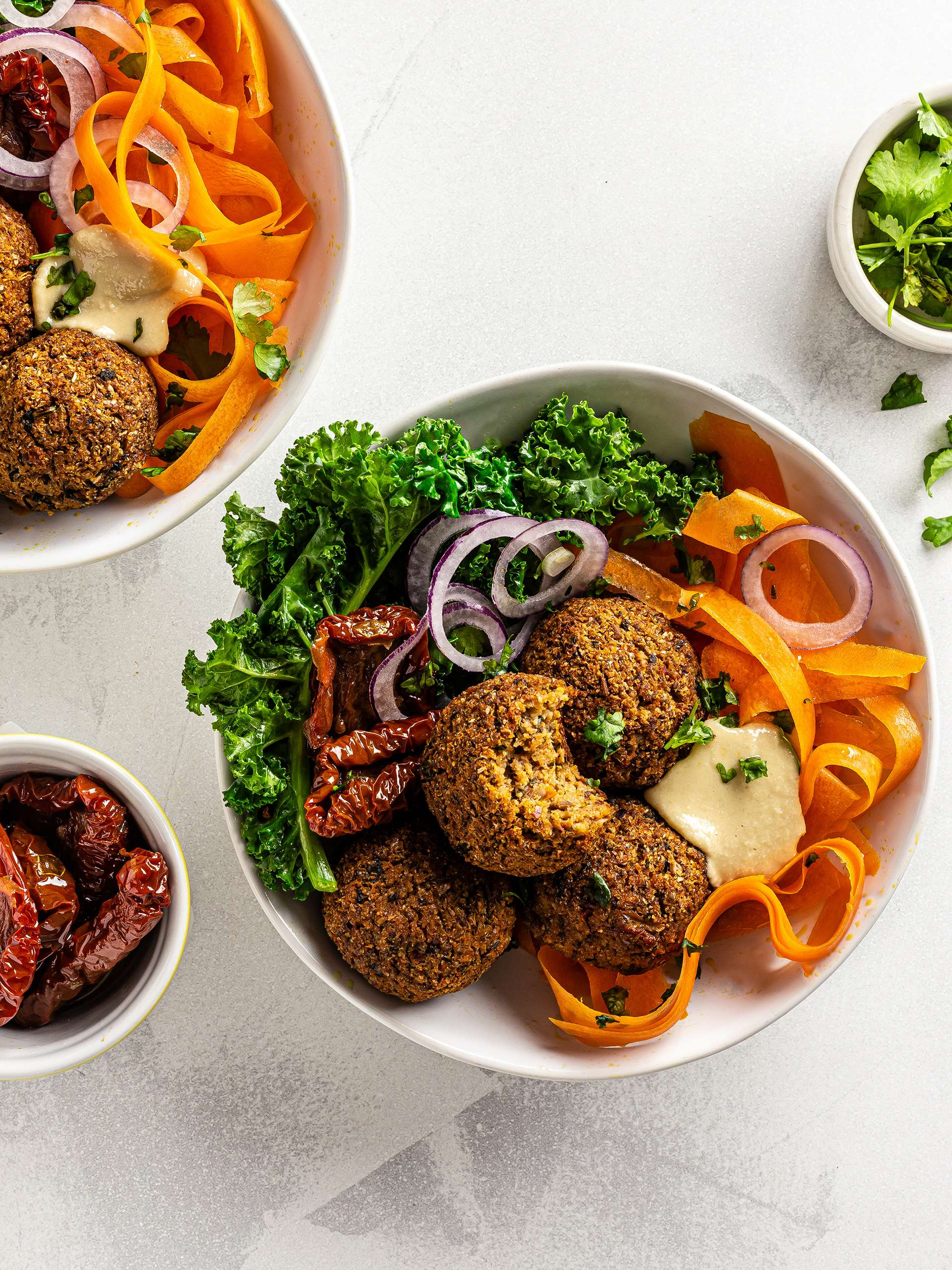 Low-Carb Cauliflower Falafels Recipe Thumbnail