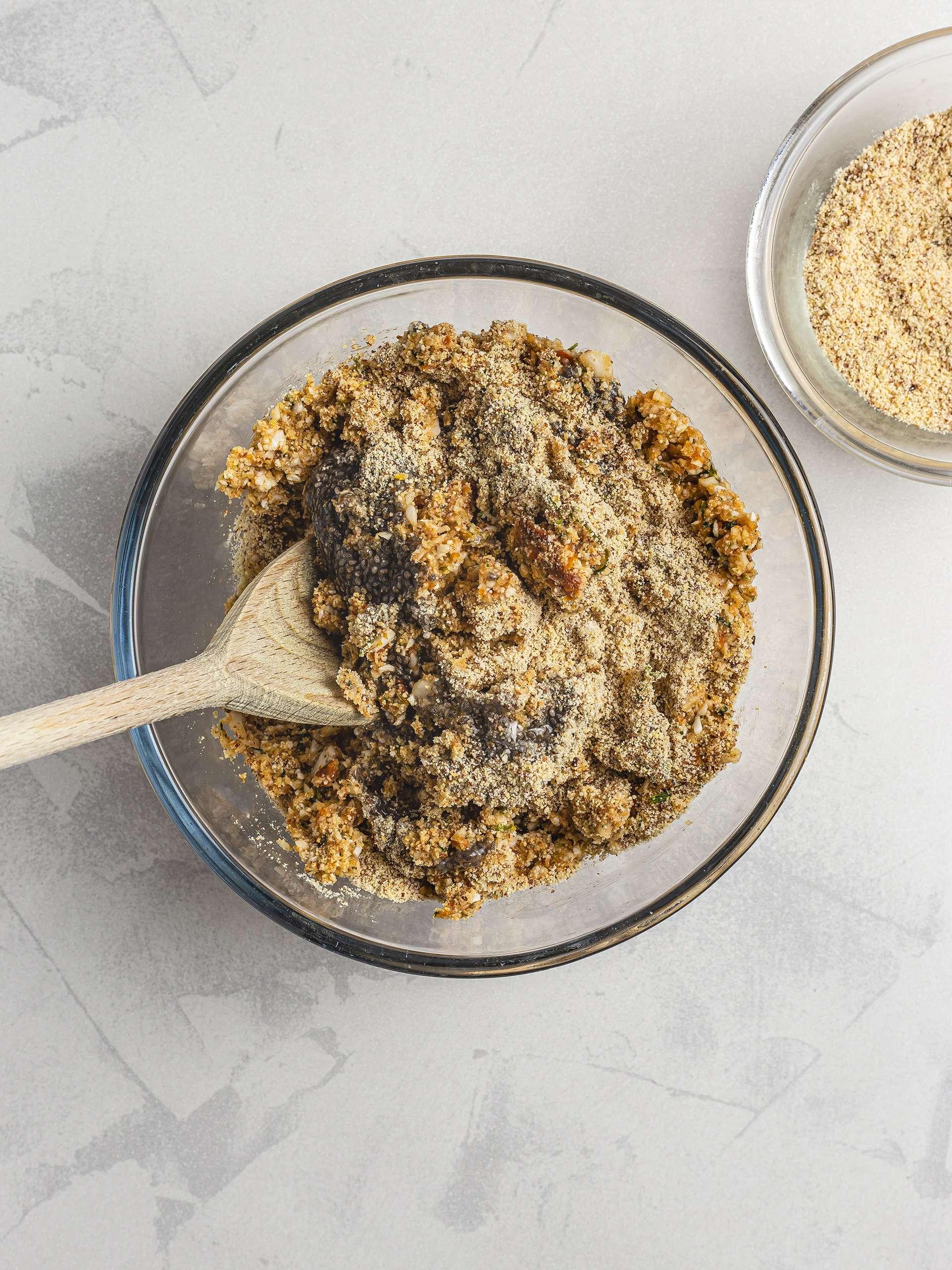Falafel mixture with almond flour
