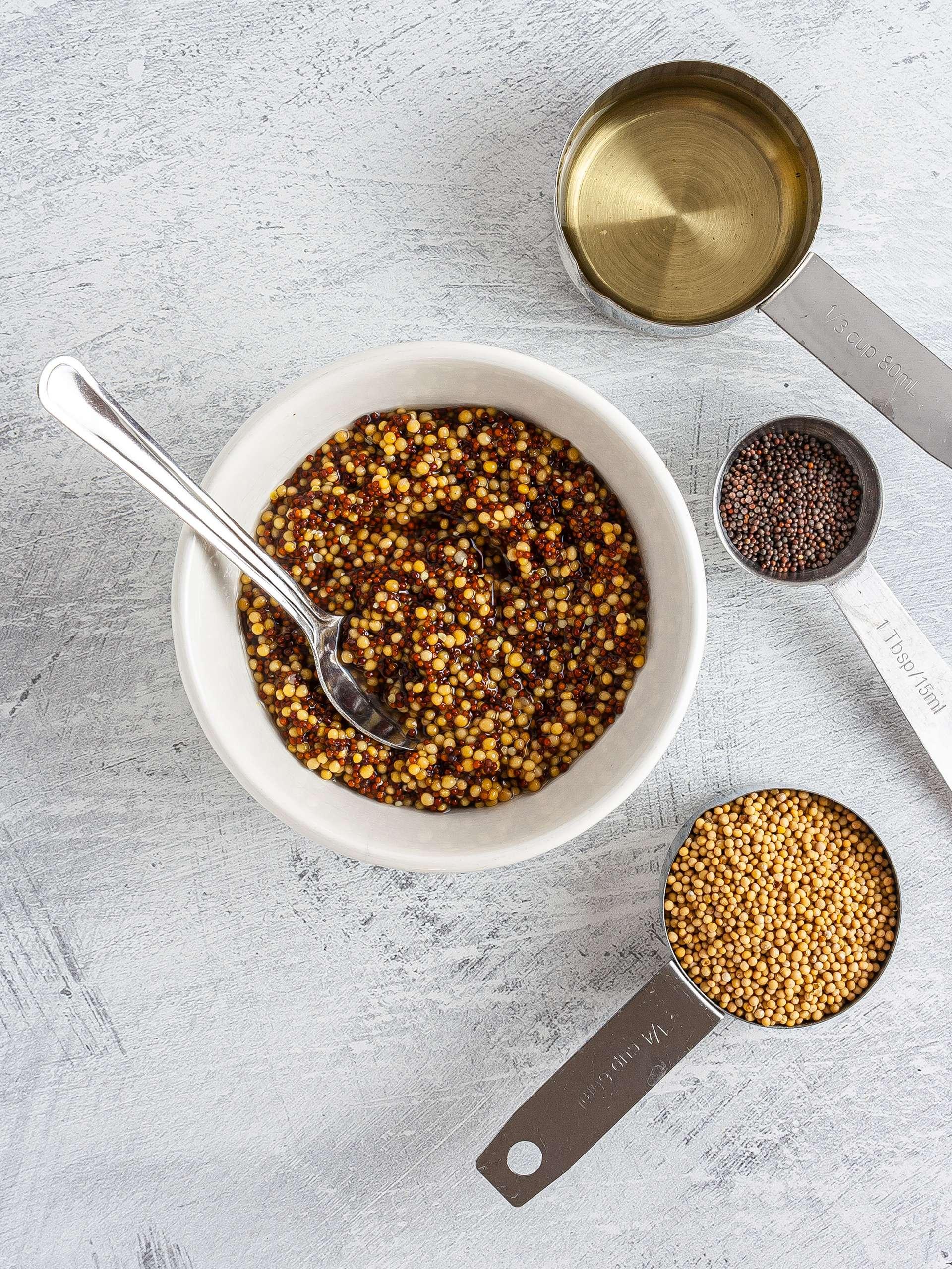 Soaked mustard seeds