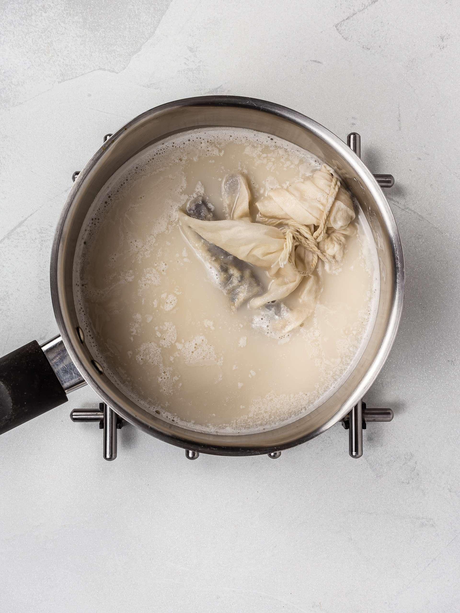 coconut milk with chai spice mix