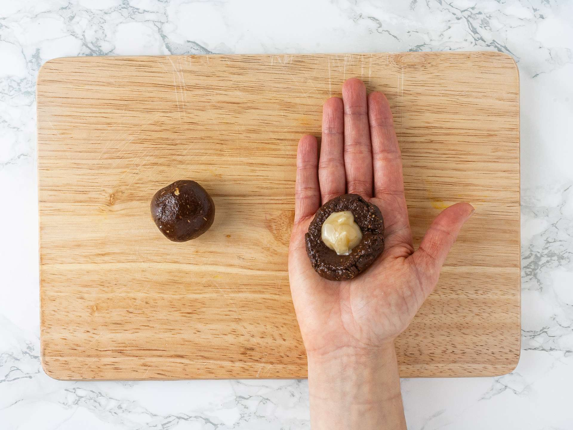 Step 3.1 of Chocolate Honey Truffles Recipe