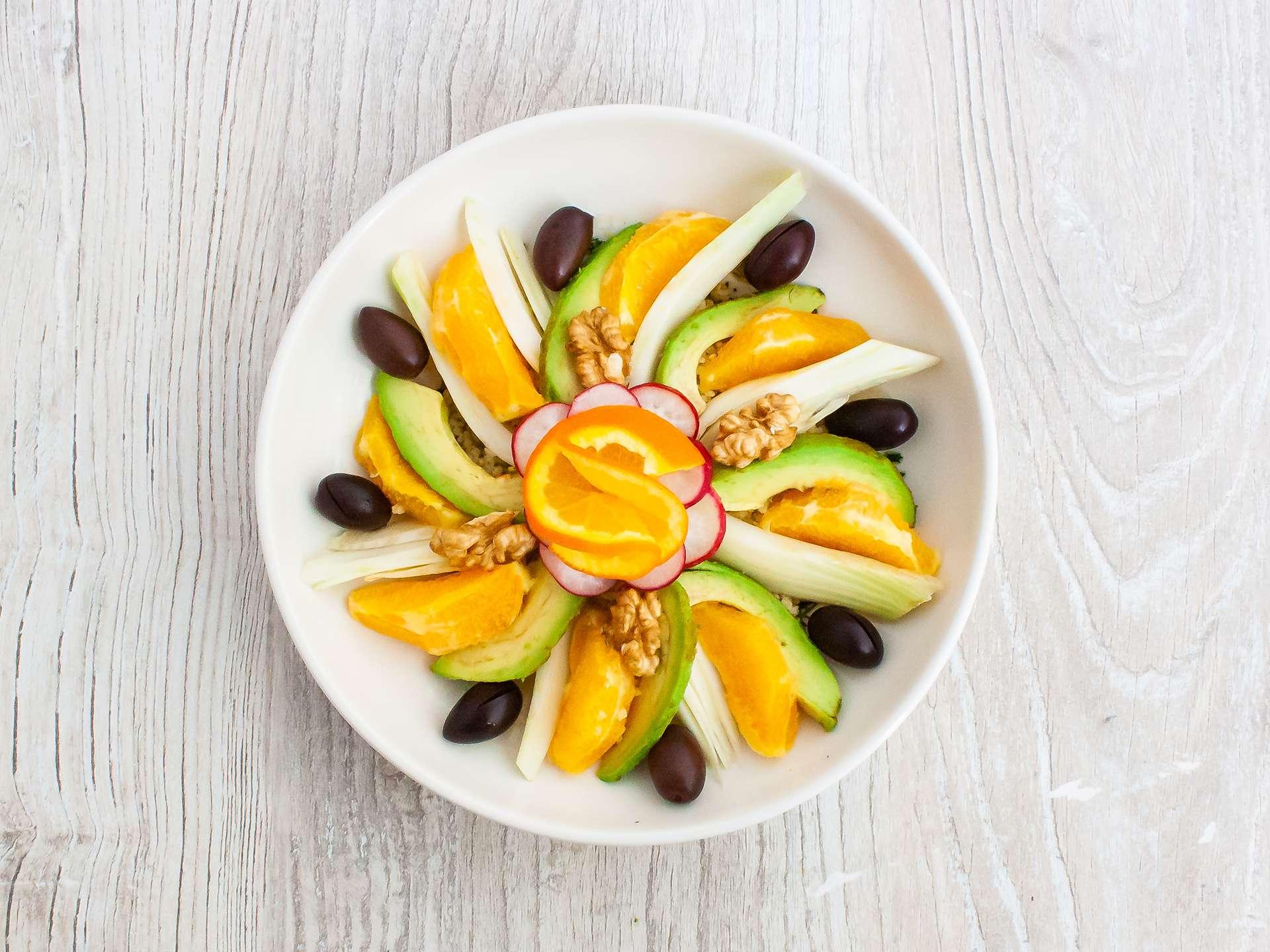 Step 3.2 of Sicilian Orange Salad with Fennel Avocado and Quinoa