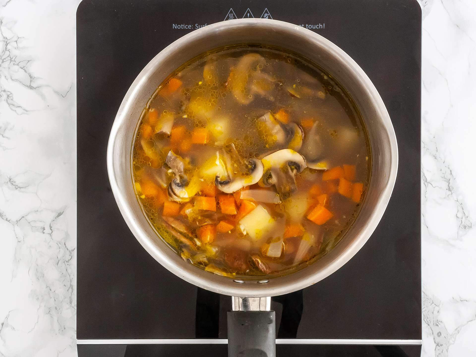 Cooked broth