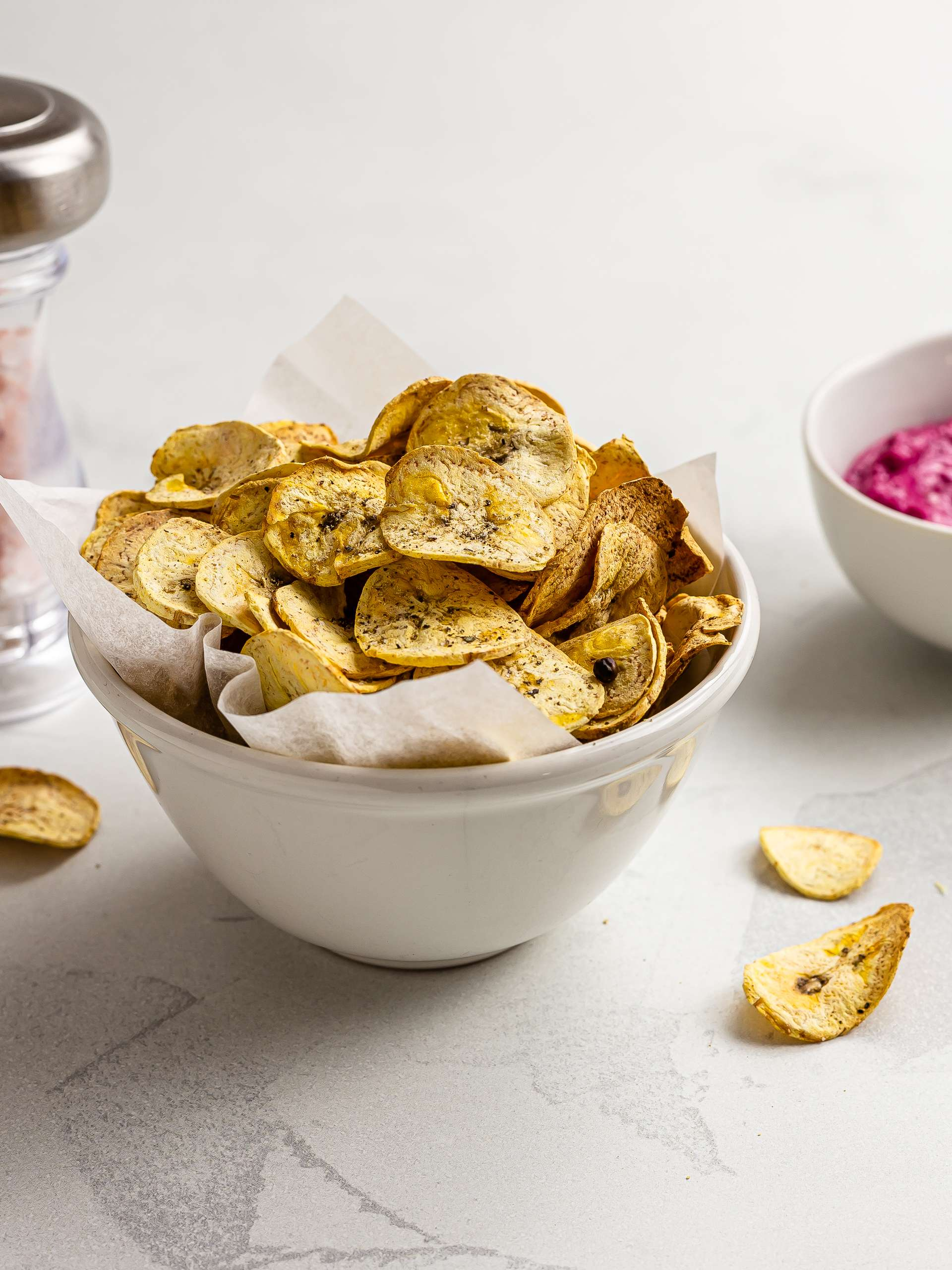 Air-Fryer Plantain Chips (Oil-Free)