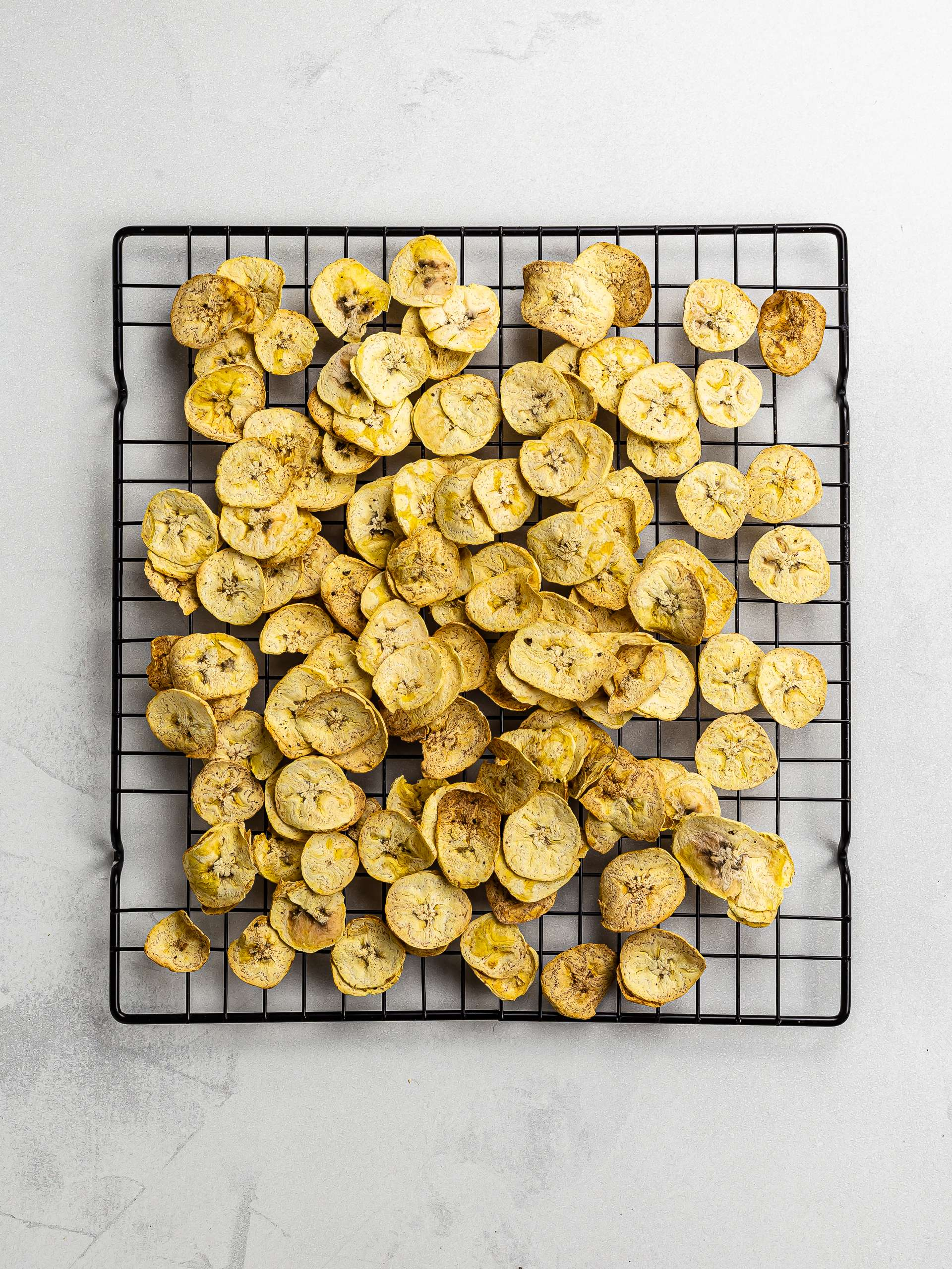 air-fried plantain chips