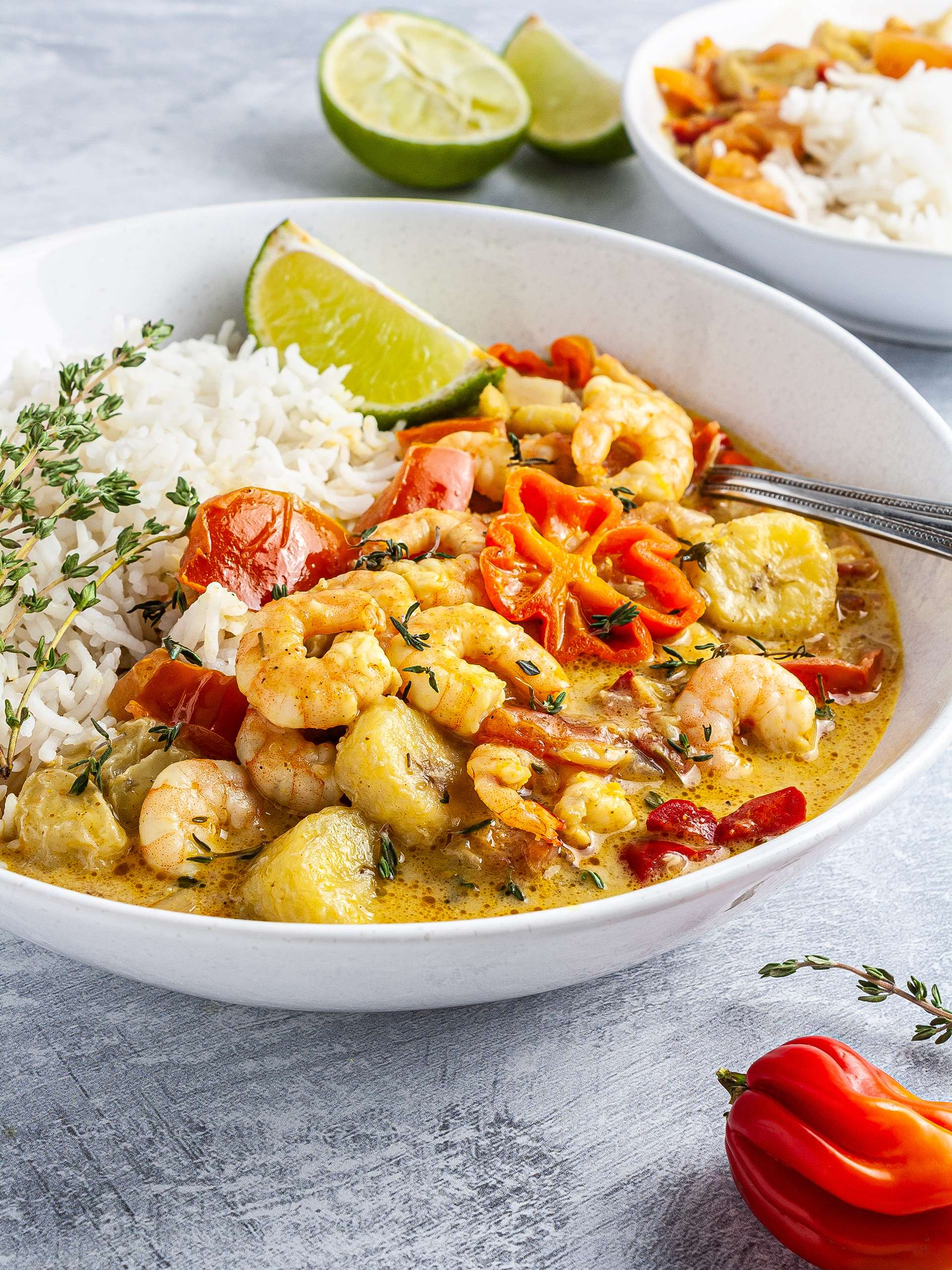Caribbean Prawn and Banana Curry Recipe Thumbnail