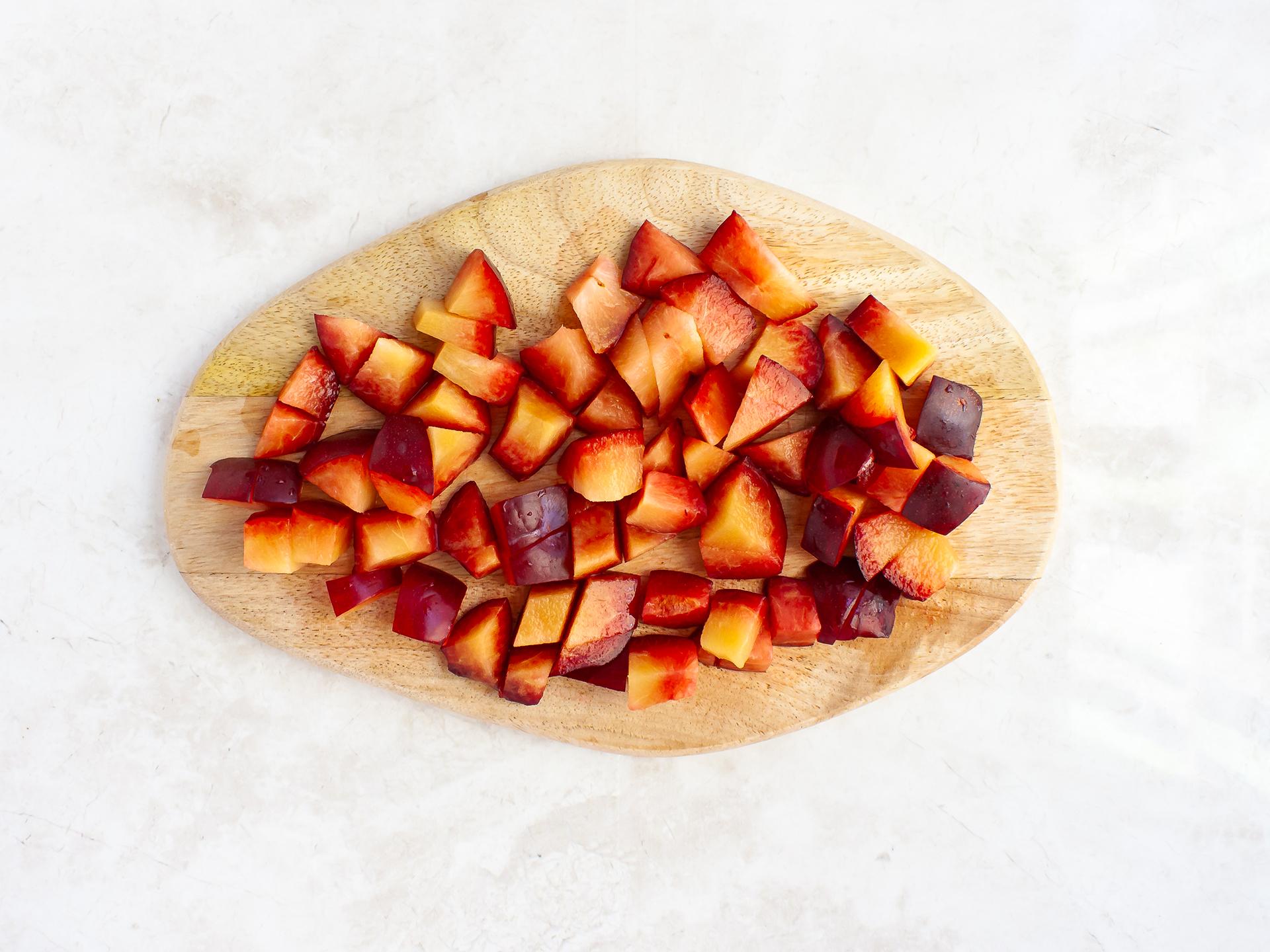Step 1.2 of Healthy Vegan Plum Crumble Recipe