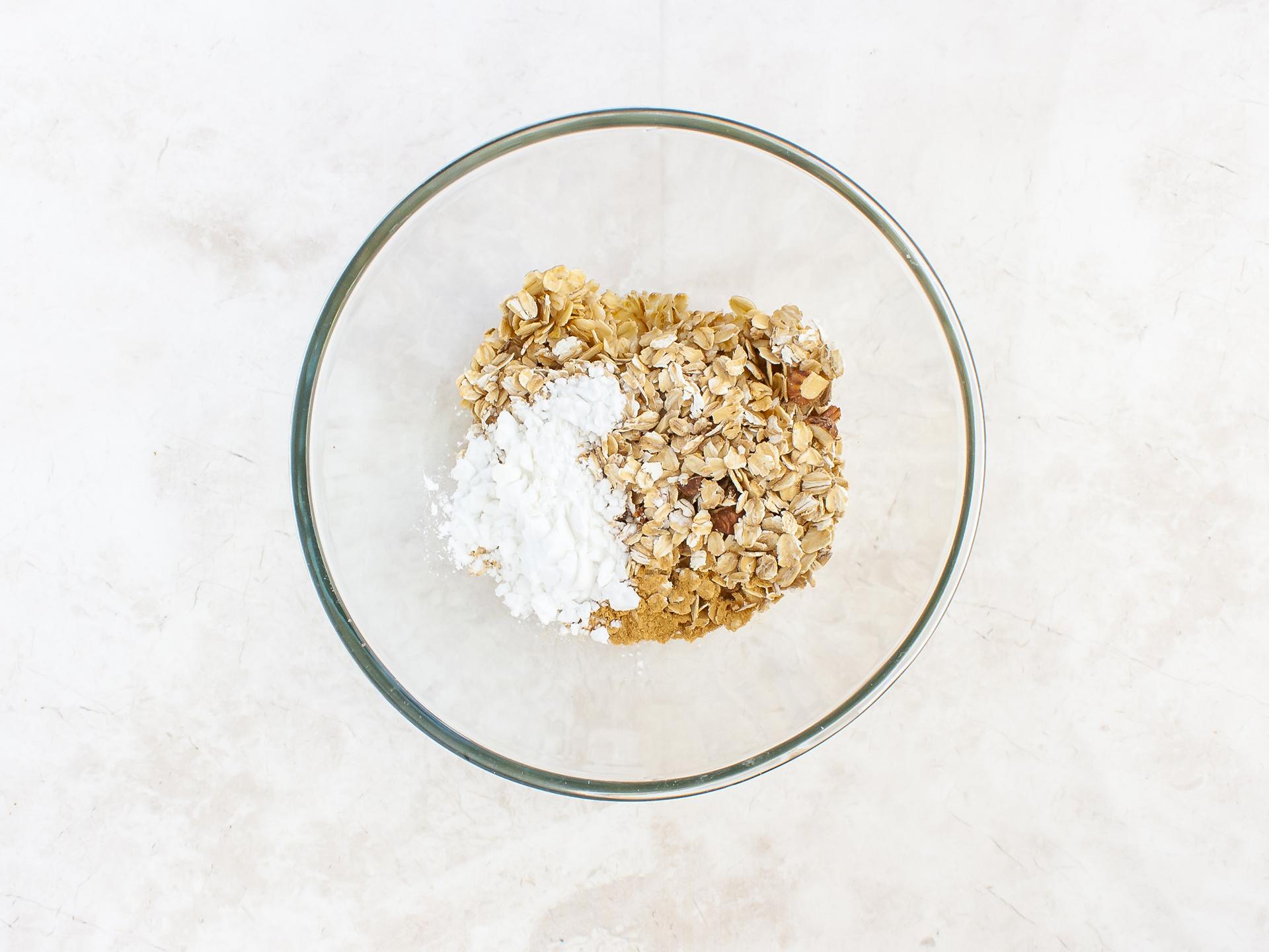 Step 2.1 of Healthy Vegan Plum Crumble Recipe