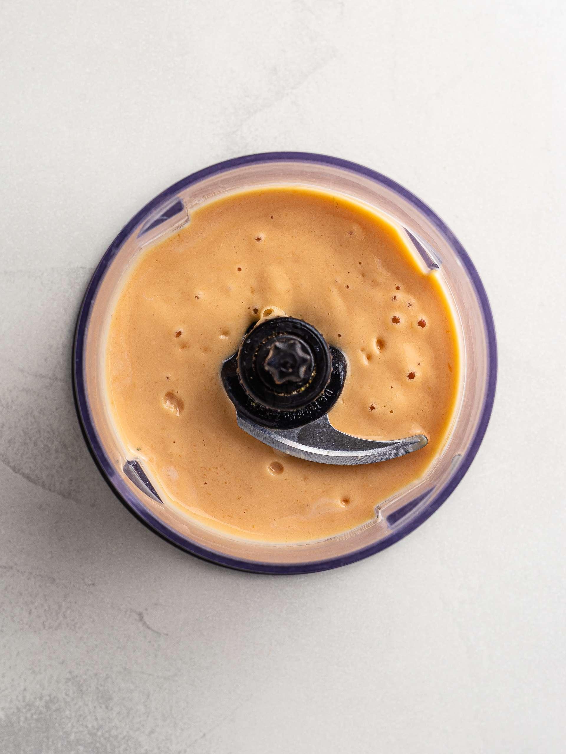 papaya yogurt smoothie in a blender