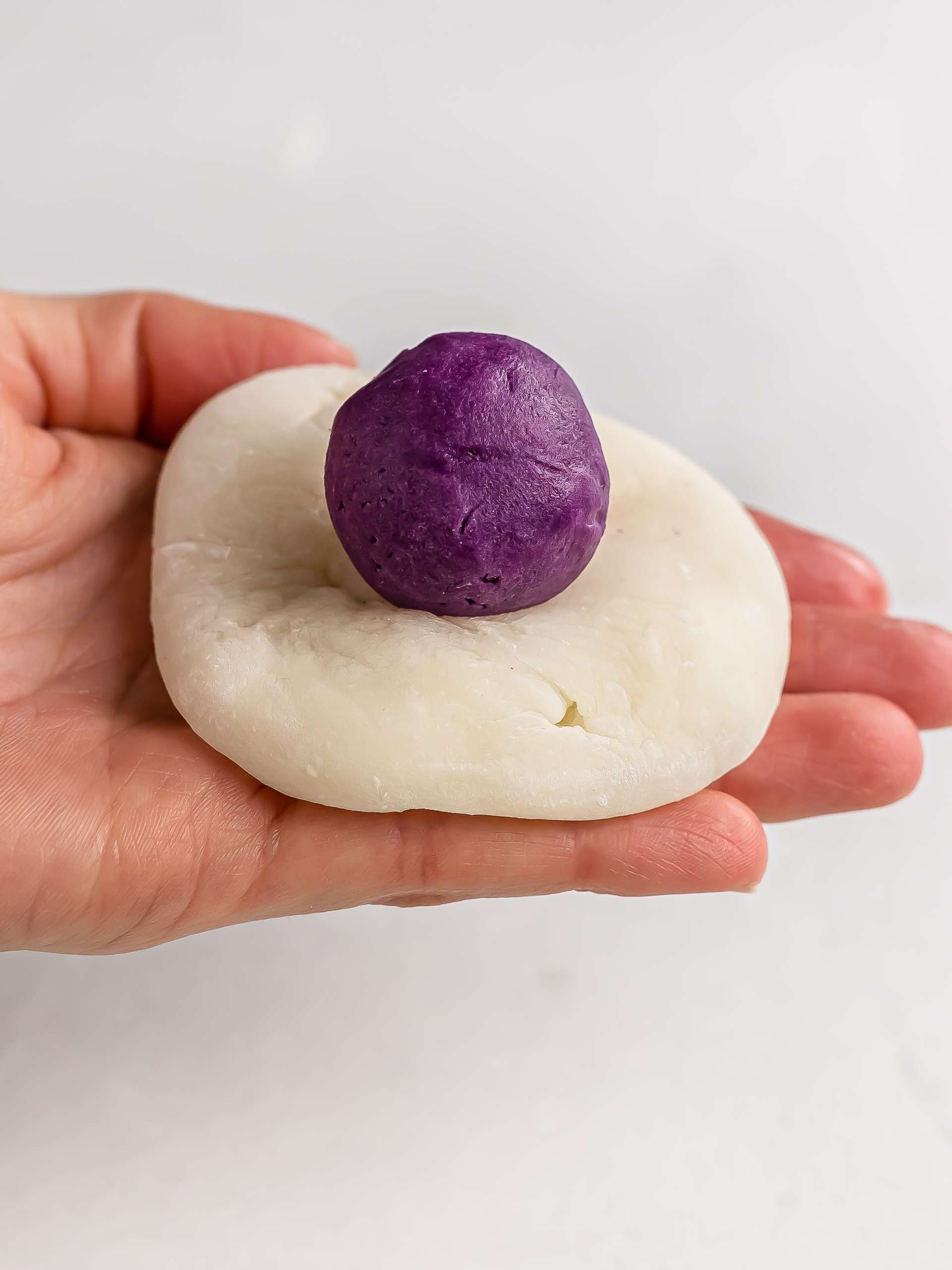 mochi with ube butter filling