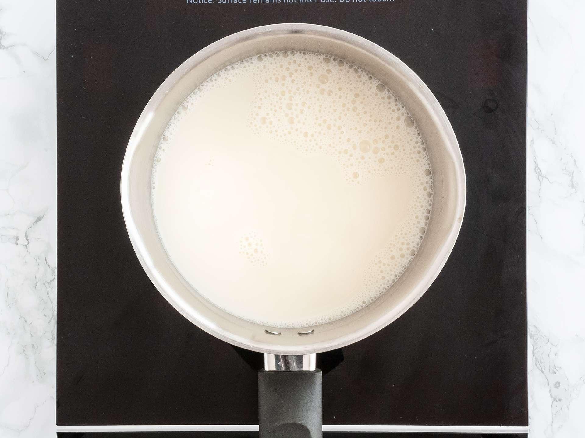Almond milk boiling