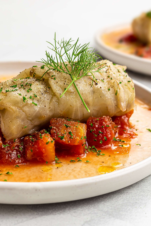 Vegan Malfouf Mahshi  (Lebanese Cabbage Rolls)