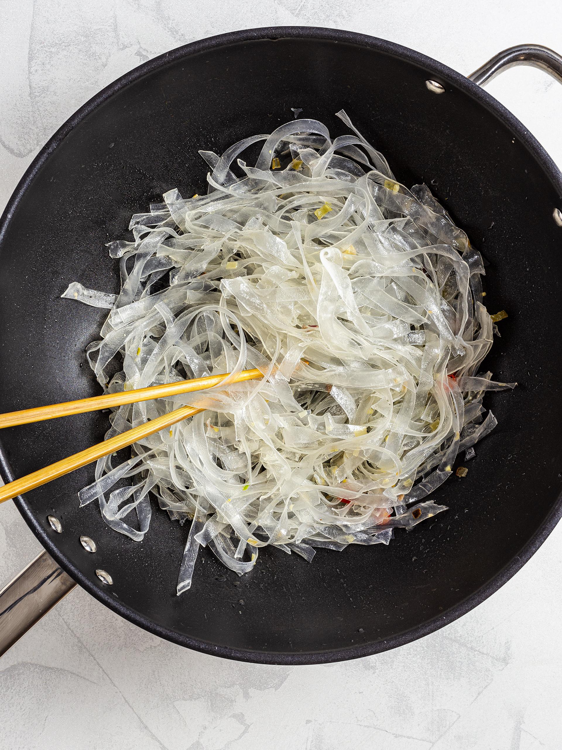 Glass noodle stir fry