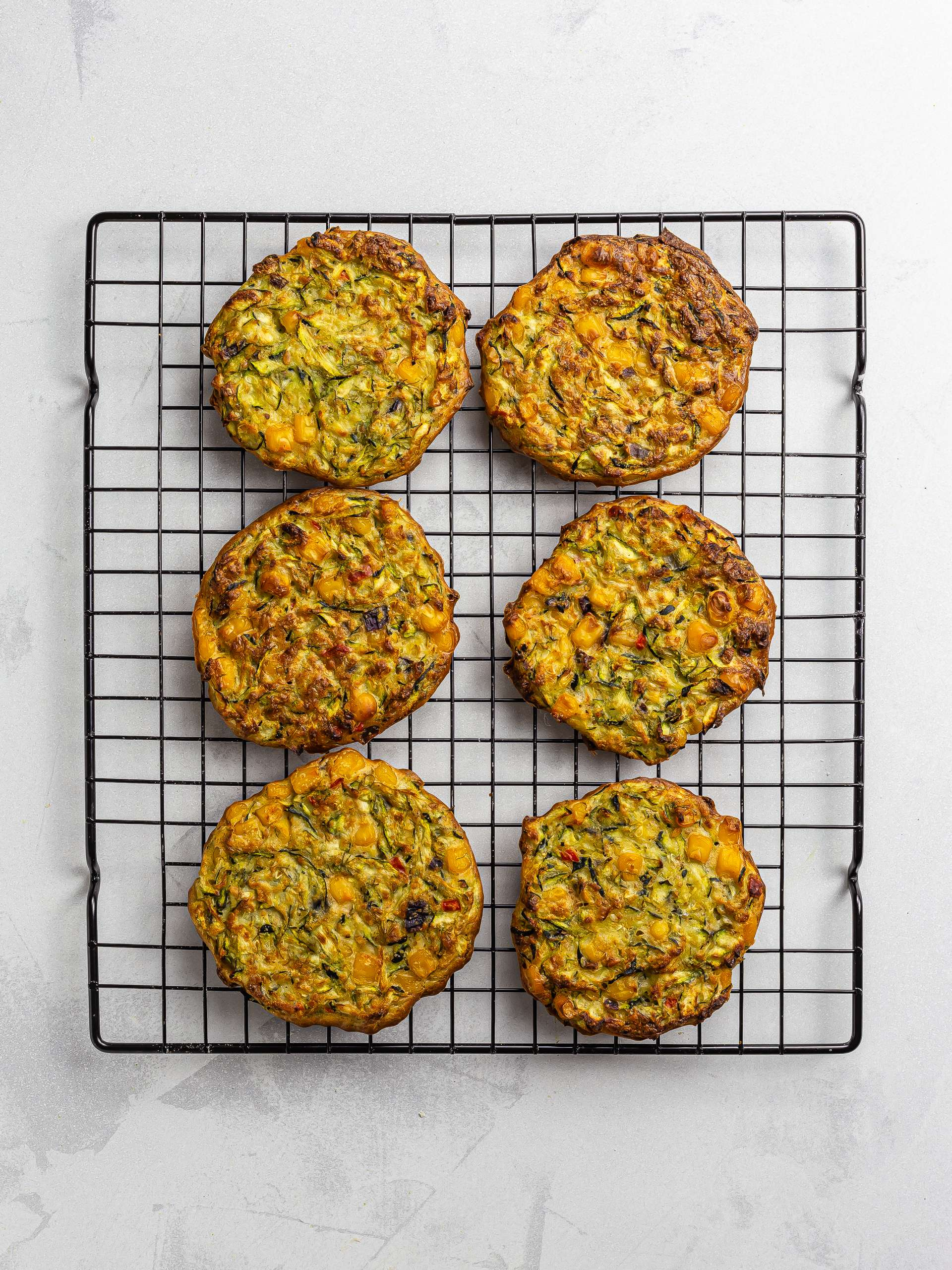 oven-baked zucchini corn fritters