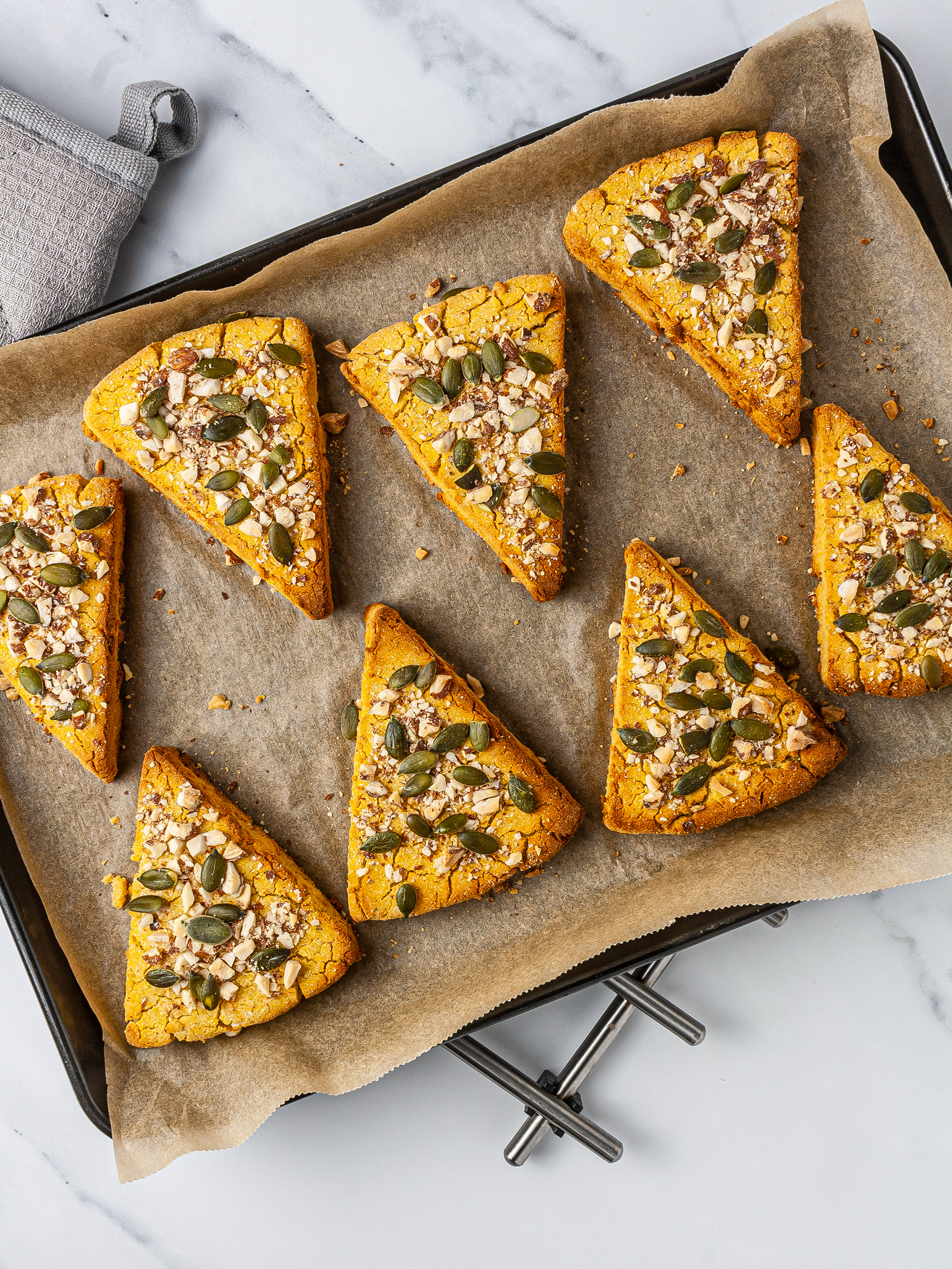 Step 4.2 of Keto Pumpkin Scones Recipe with Cream Cheese