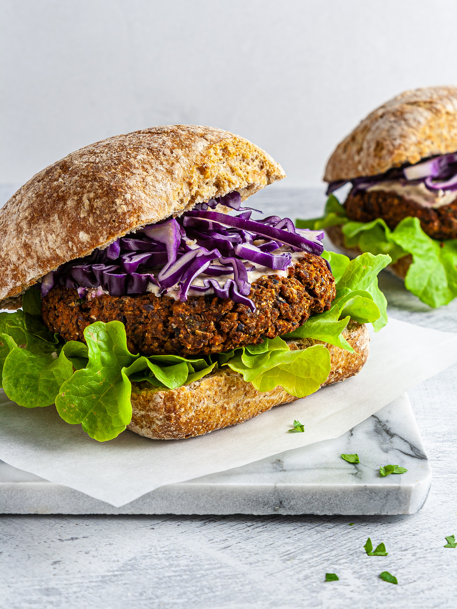 Spicy Vegan Lentil Burger Recipe Preview