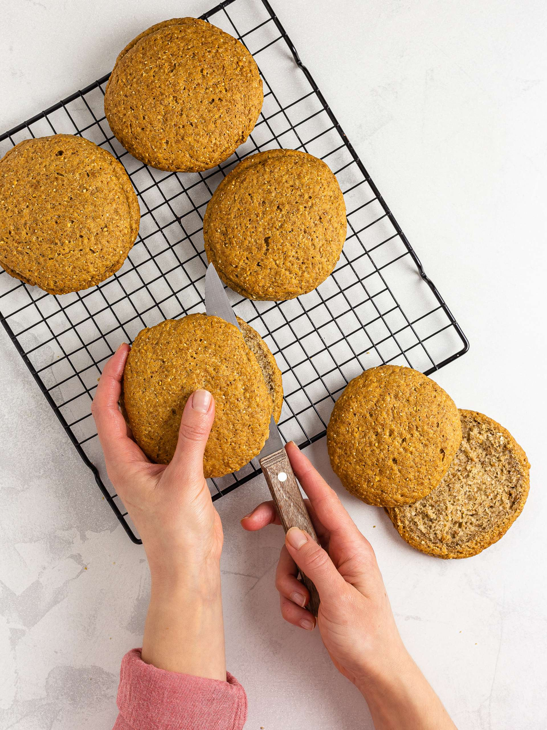how to slice baked barley rusks