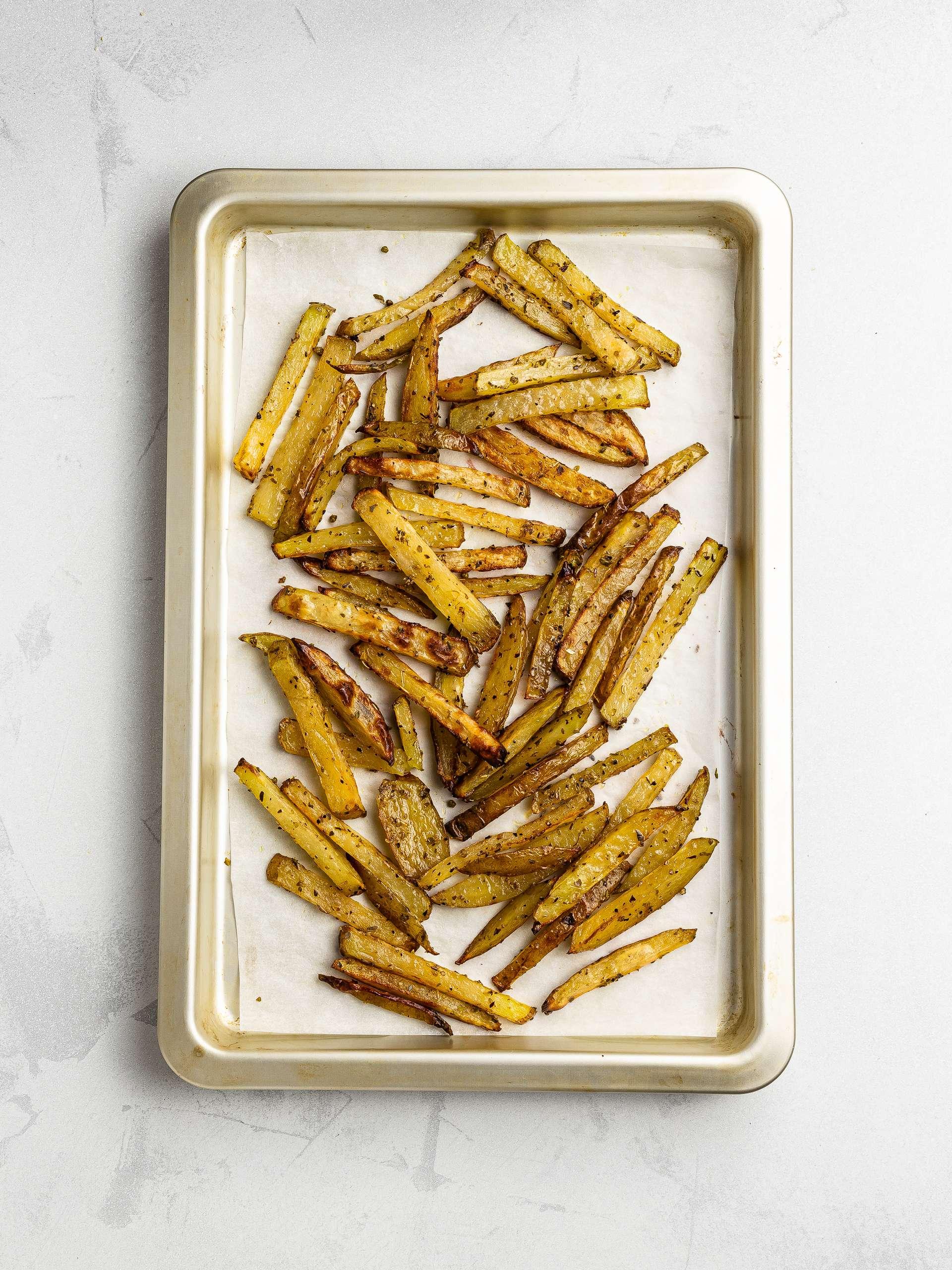 oven baked potato fries