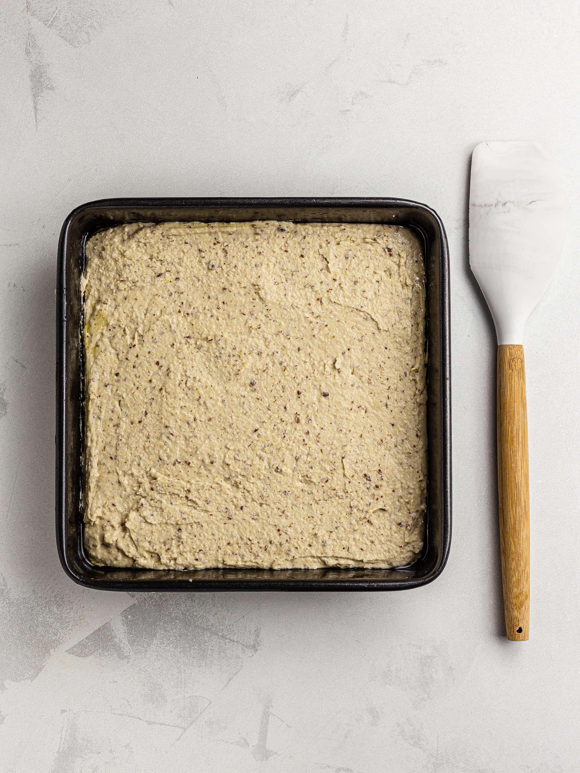 baking tin for lamington cake batter