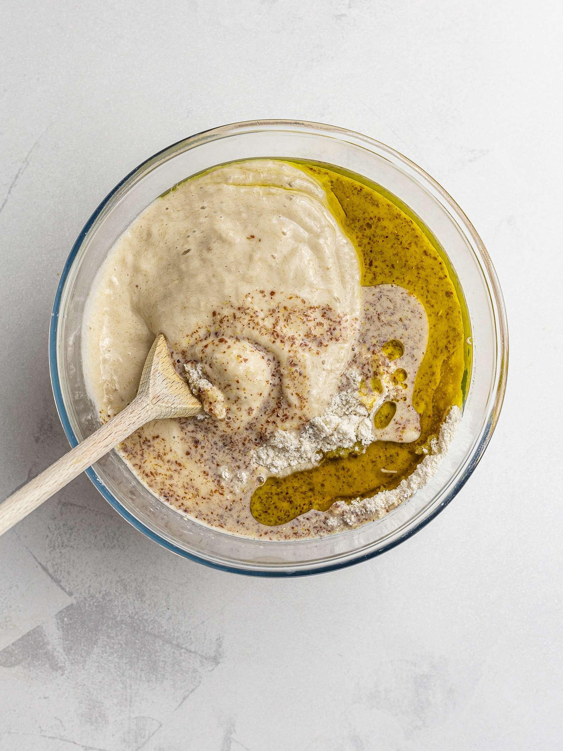 vegan lamington cake batter ingredients
