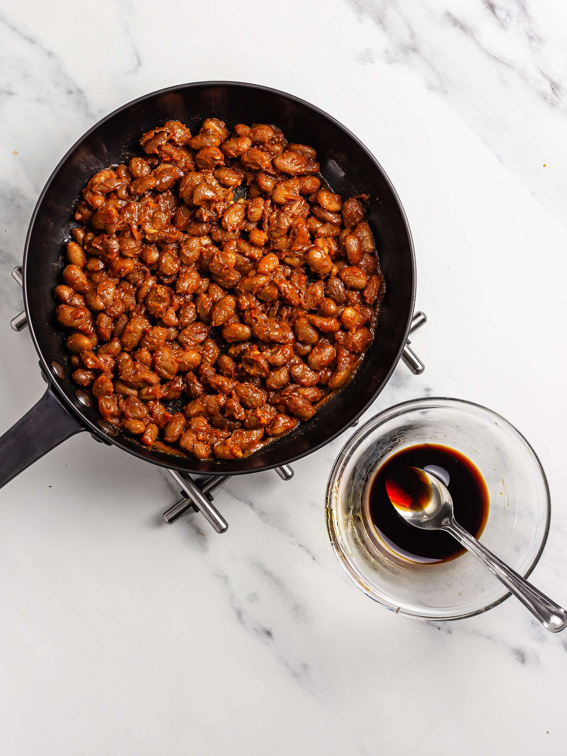 baked beans with maple syrup and soy sauce