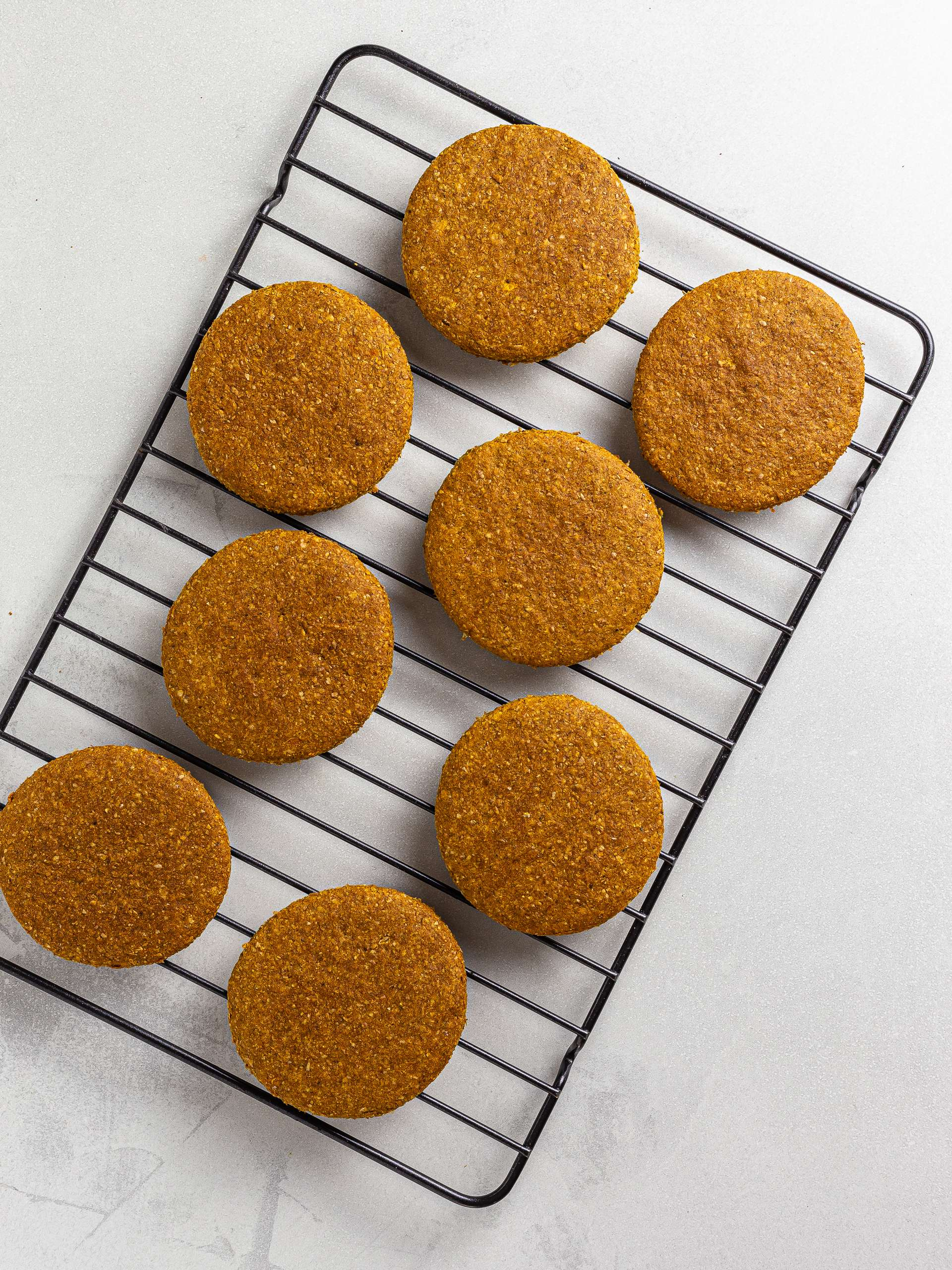 butternut squash cookies on a rack