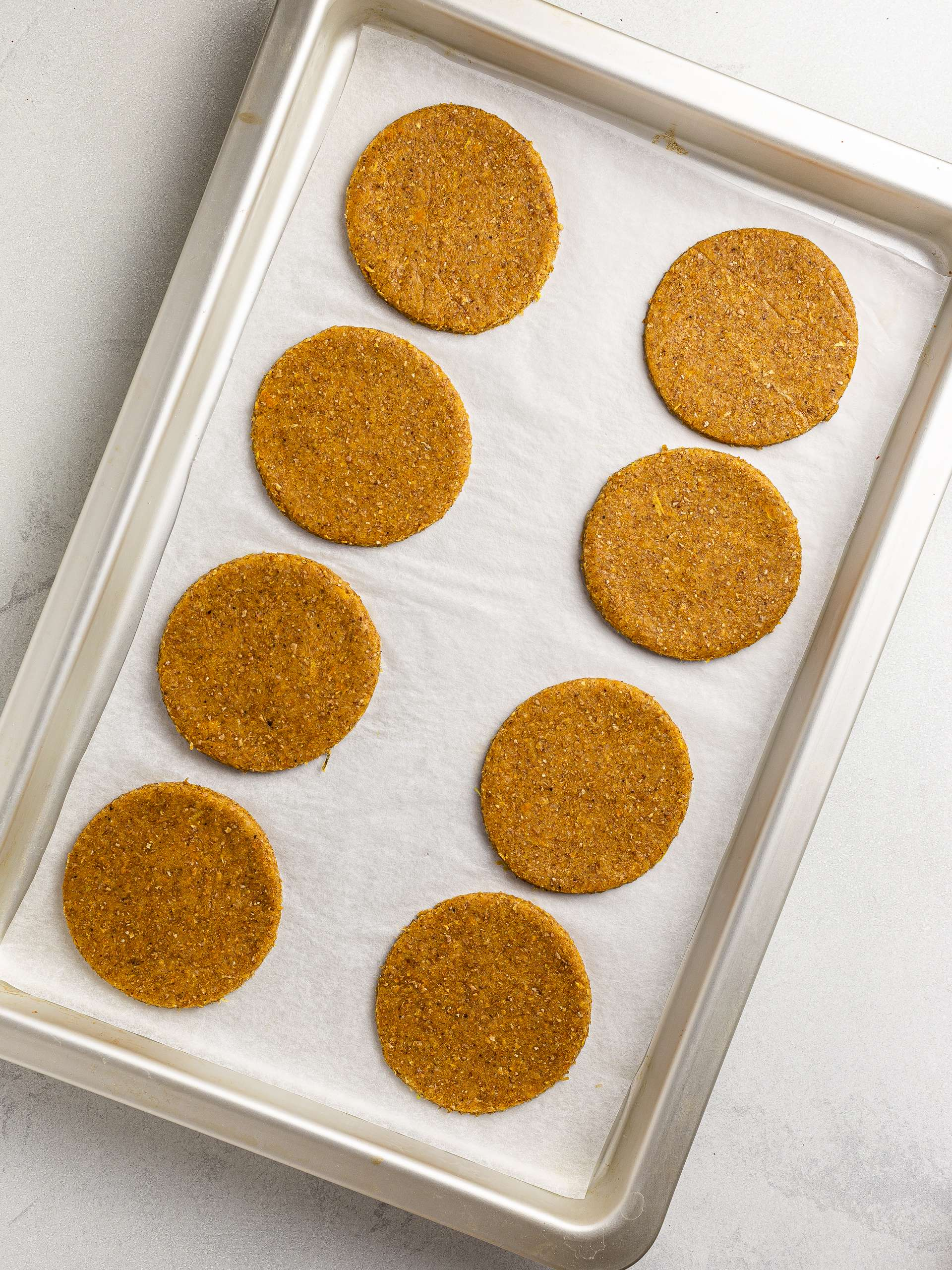 butternut squash cookies on a baking tray