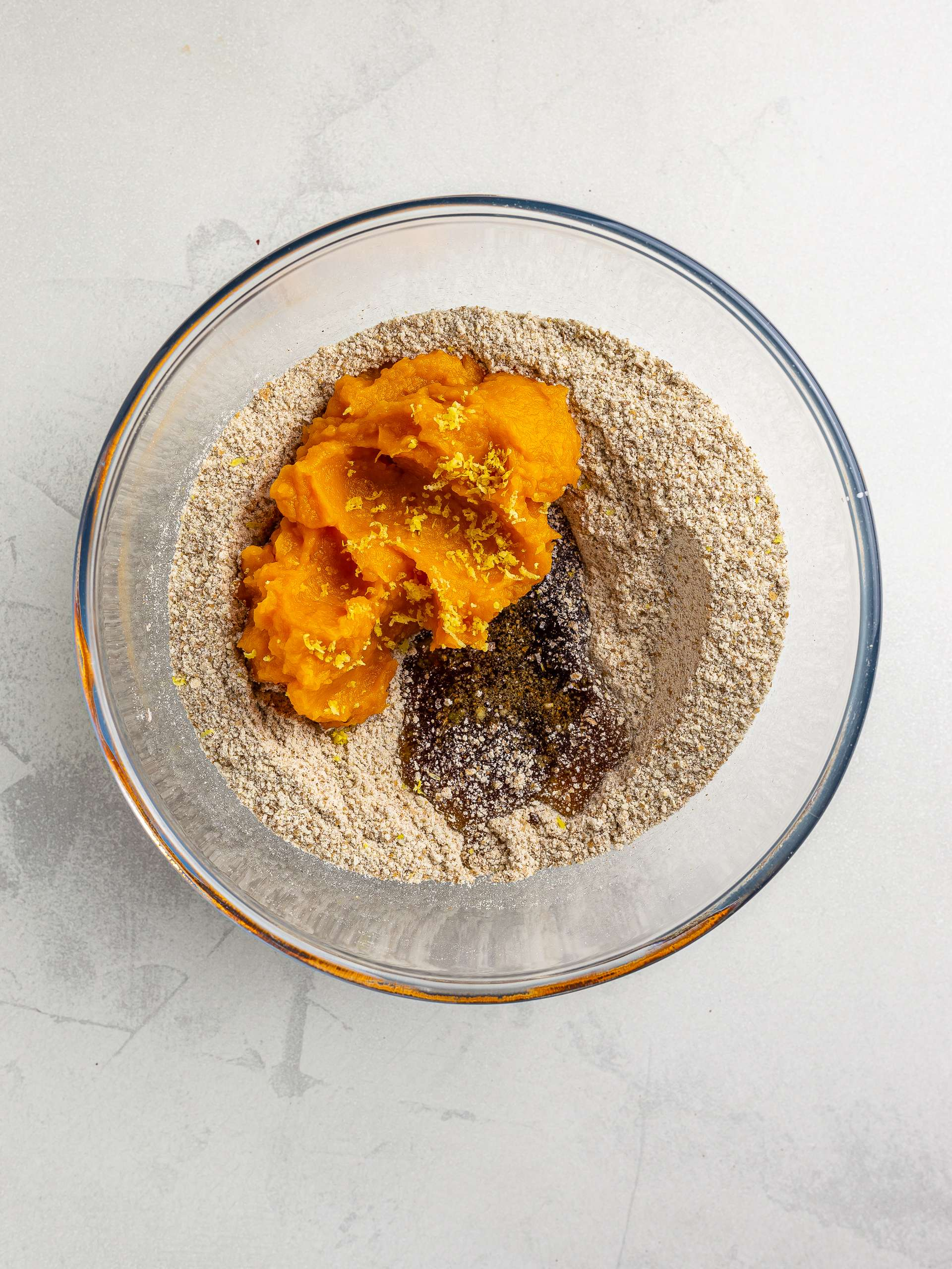 cookie dough with butternut squash puree