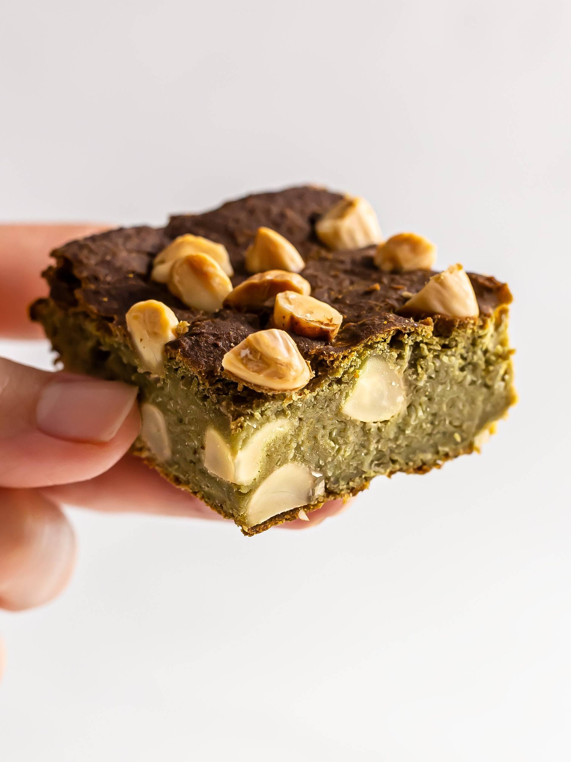 Vegan Matcha Brownies (High-Protein)