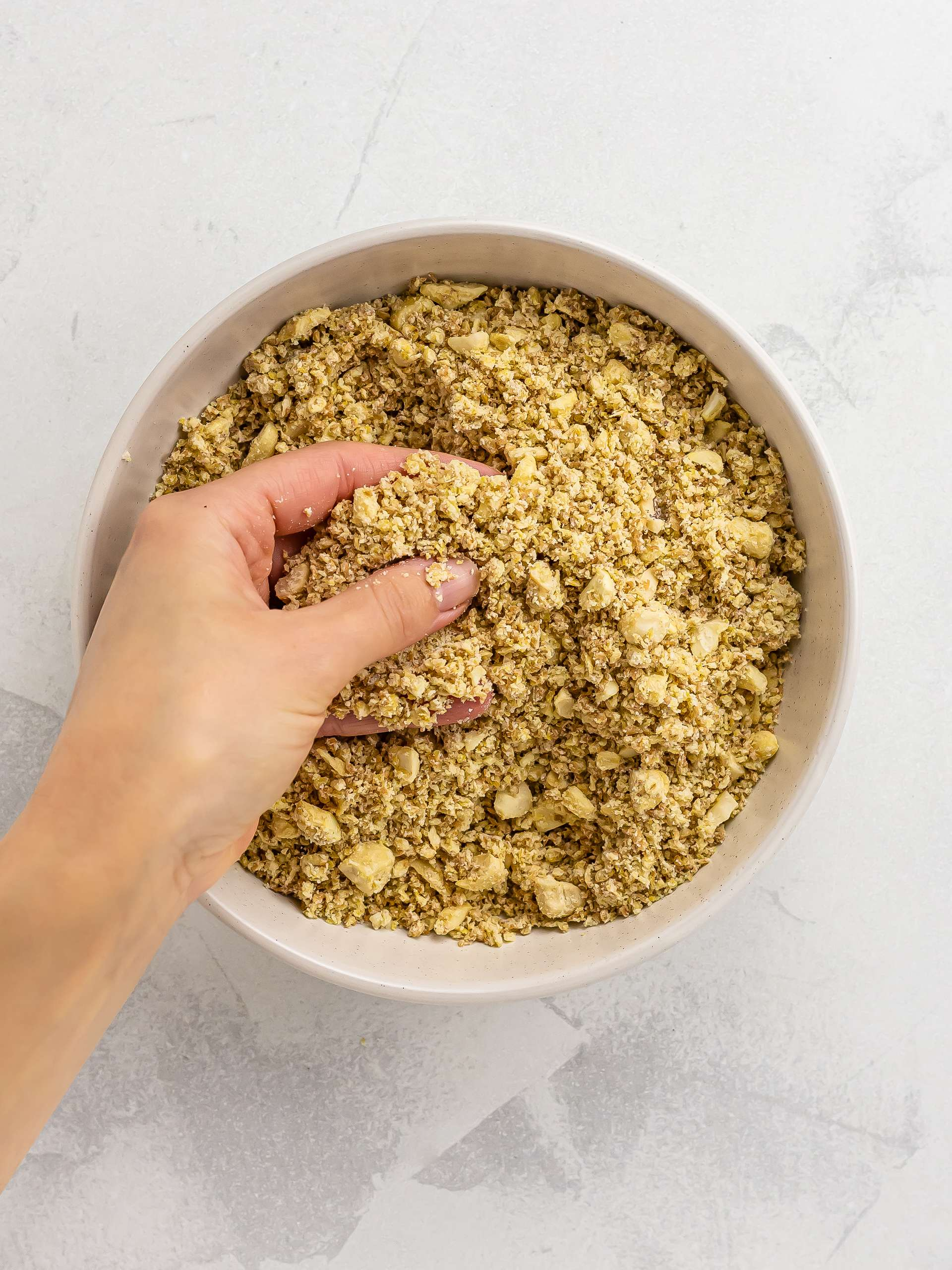 crumble mix with flour oats and nuts