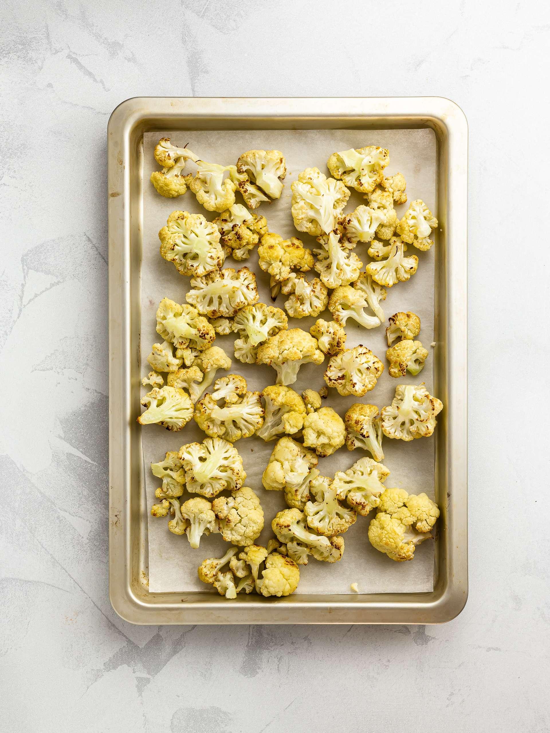roasted cauliflower florets