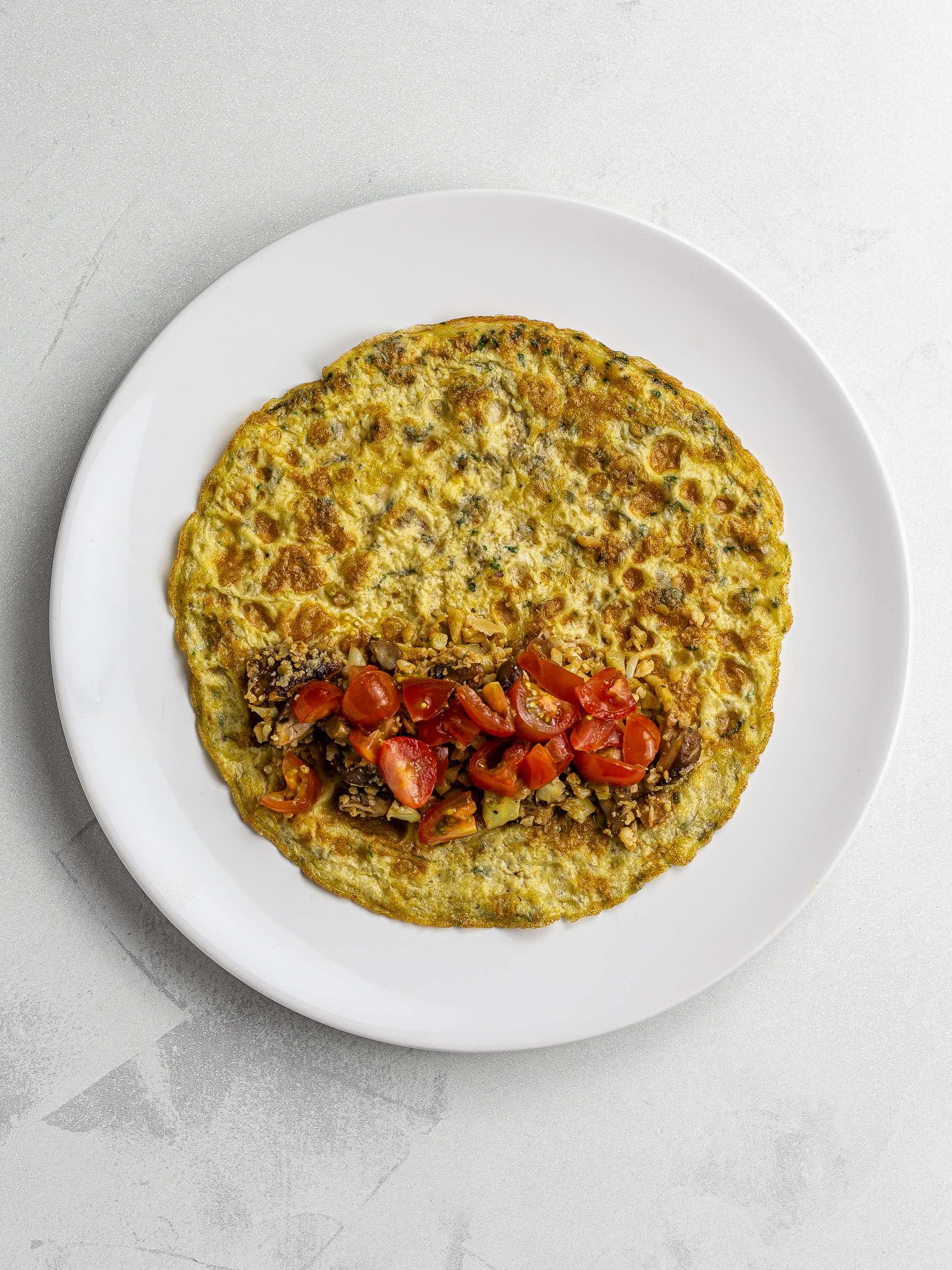 low-carb burrito with mushroom cauliflower rice