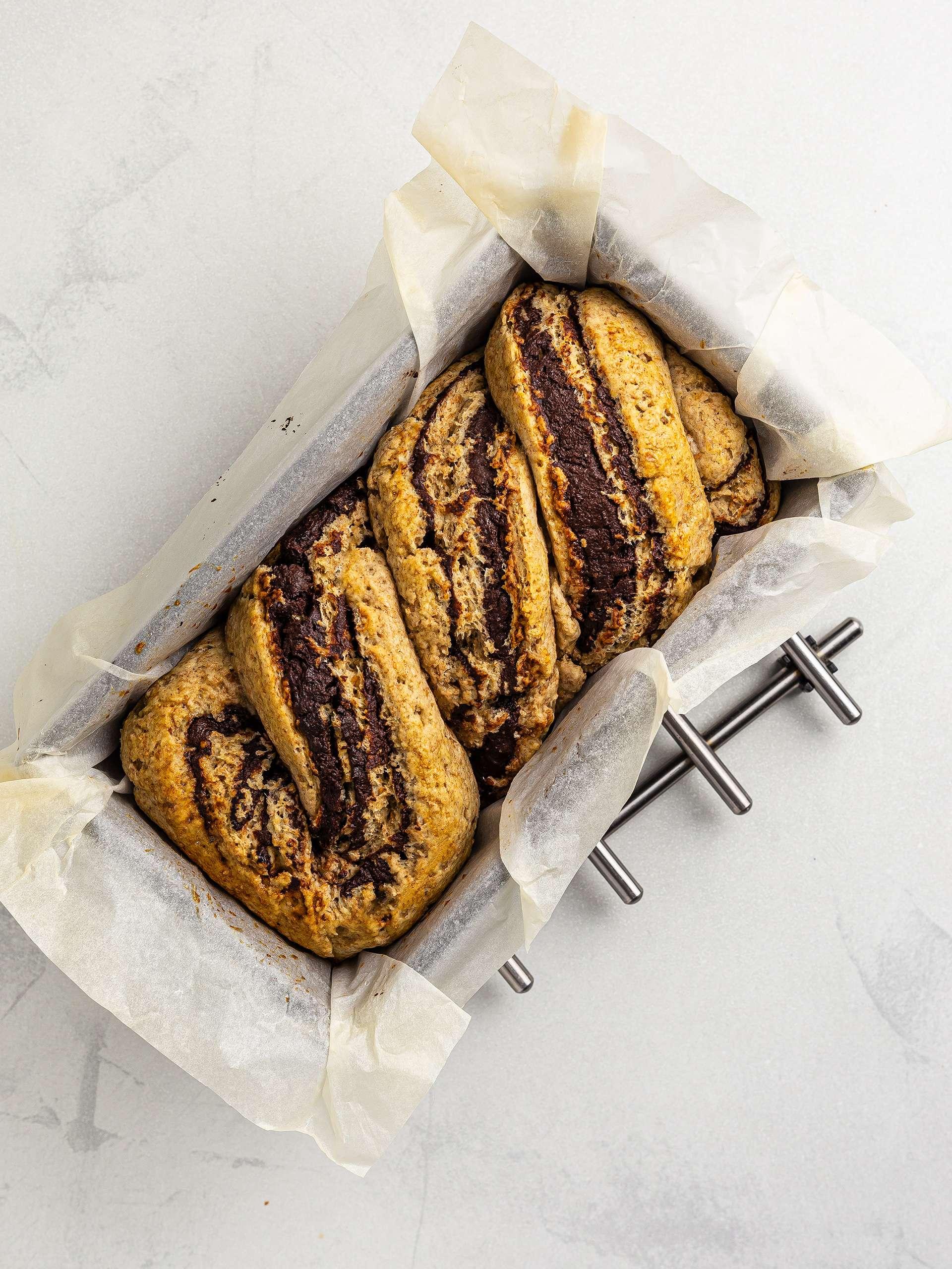 baked chocolate krantz cake